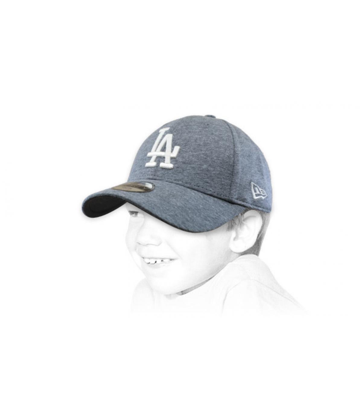 casquette enfant LA gris