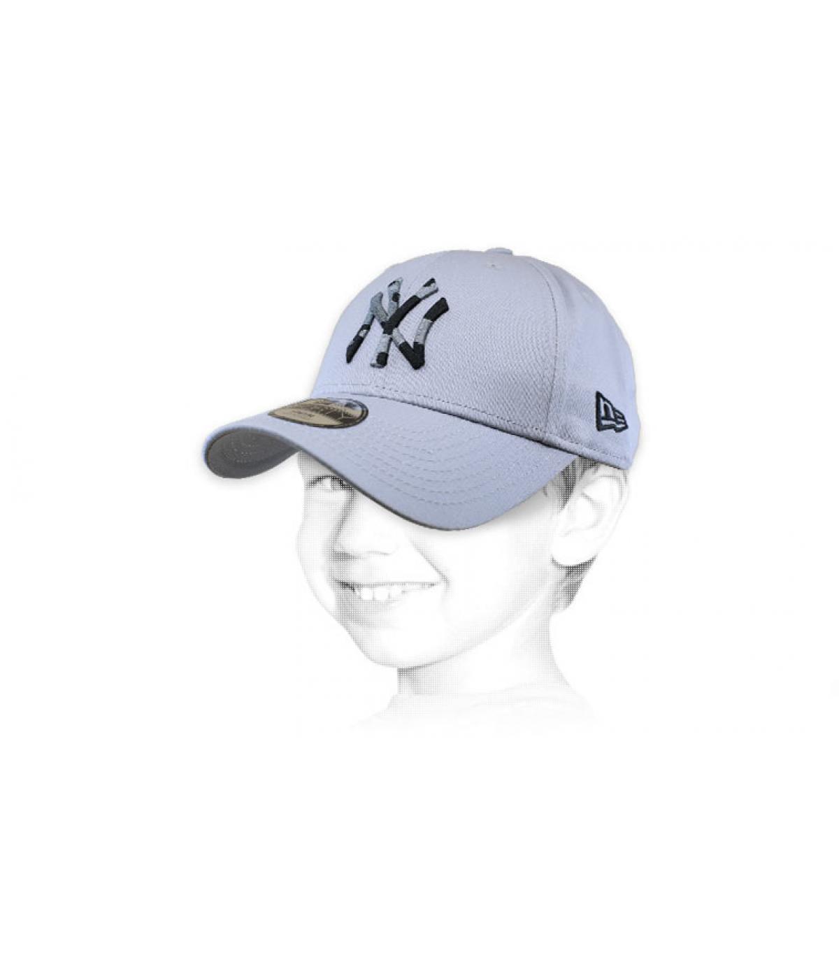 casquette enfant NY gris camo