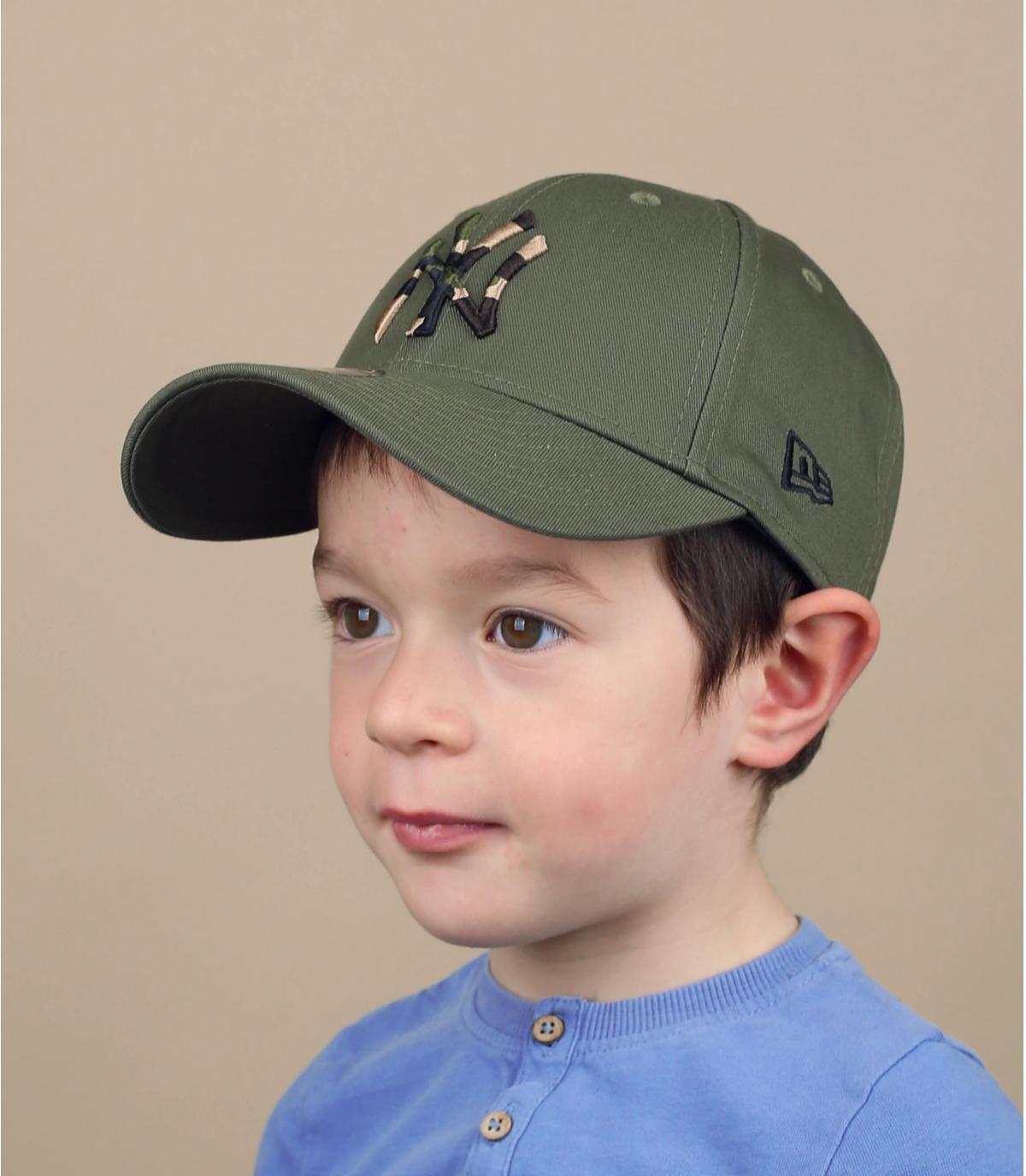 casquette enfant NY vert camo