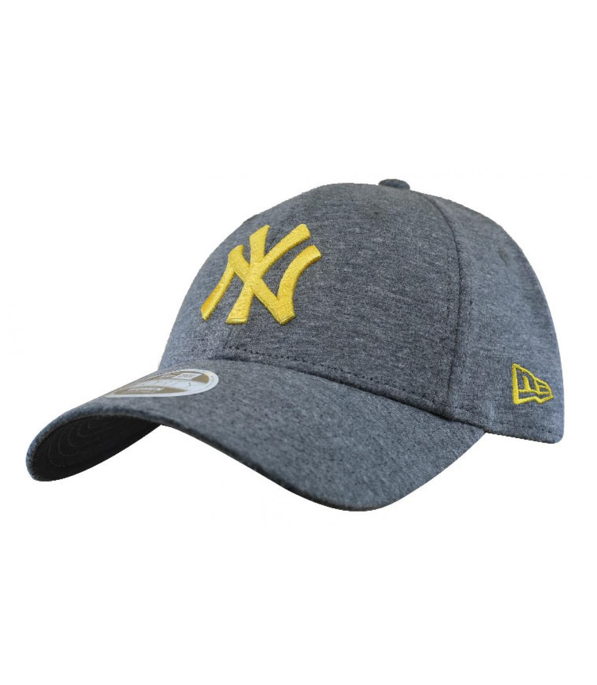 casquette femme NY gris or