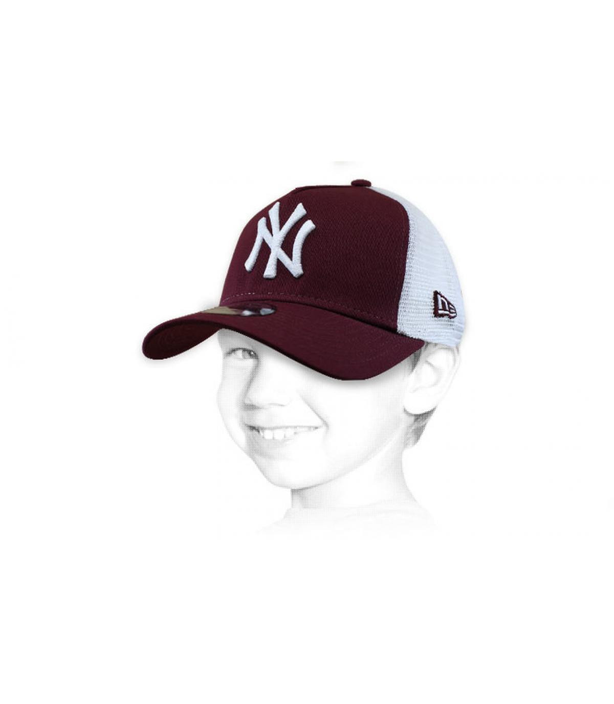 trucker enfant NY bordeaux