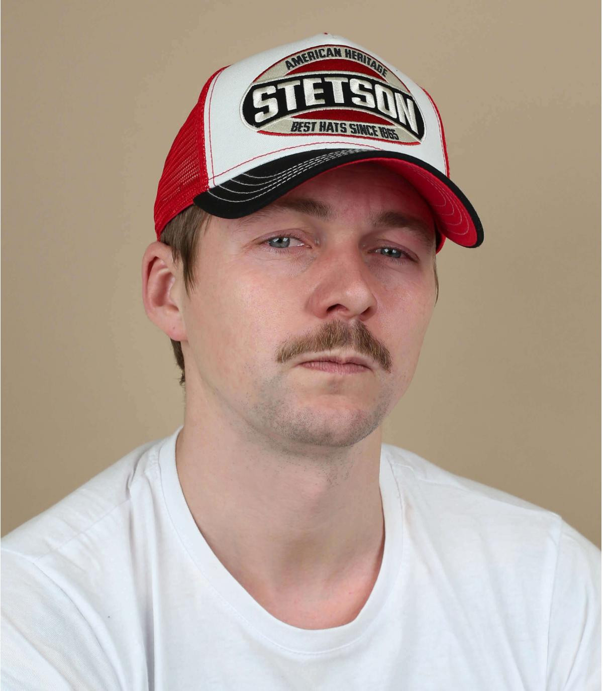 trucker Stetson bleu blanc rouge