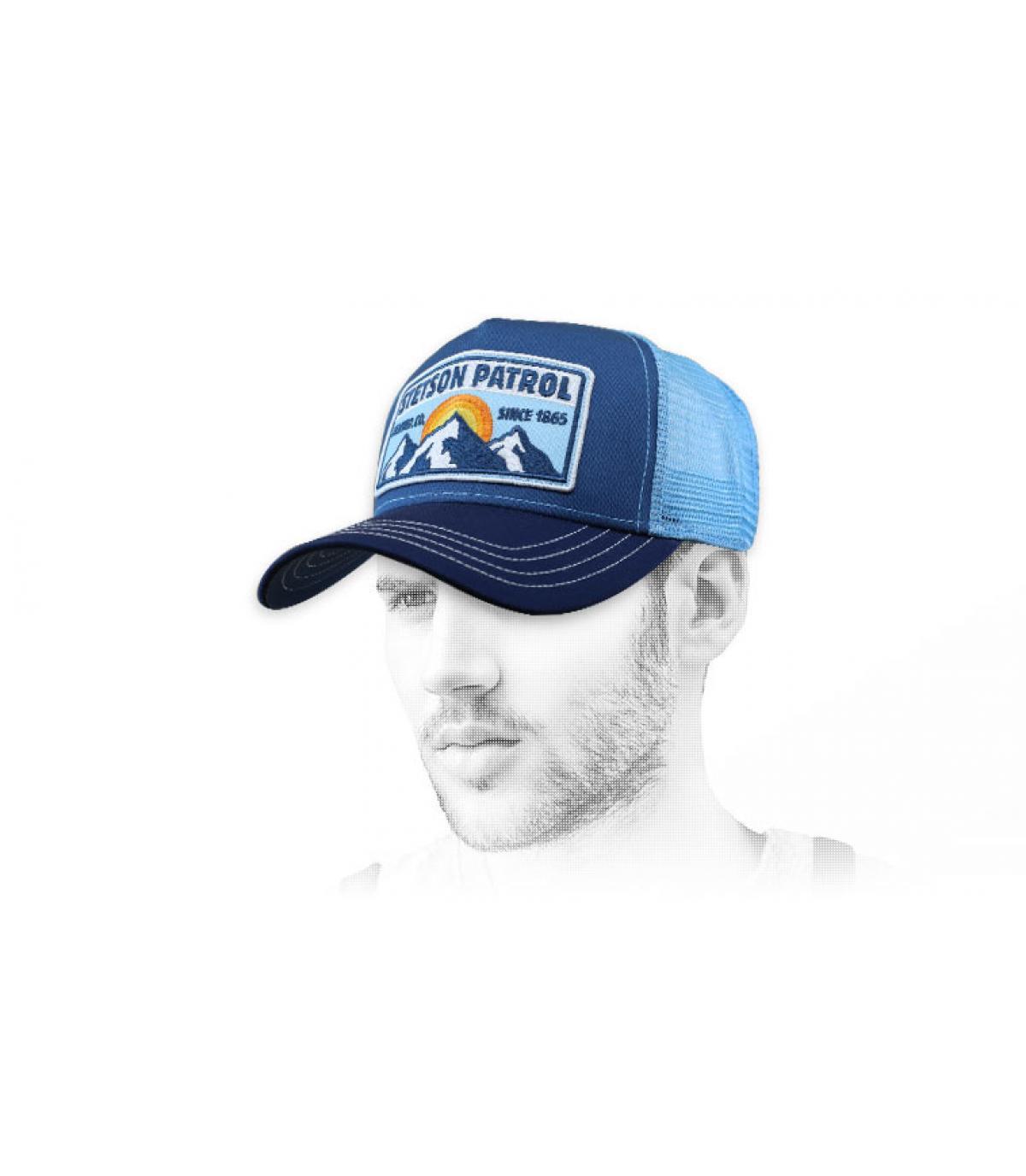 trucker Stetson bleu