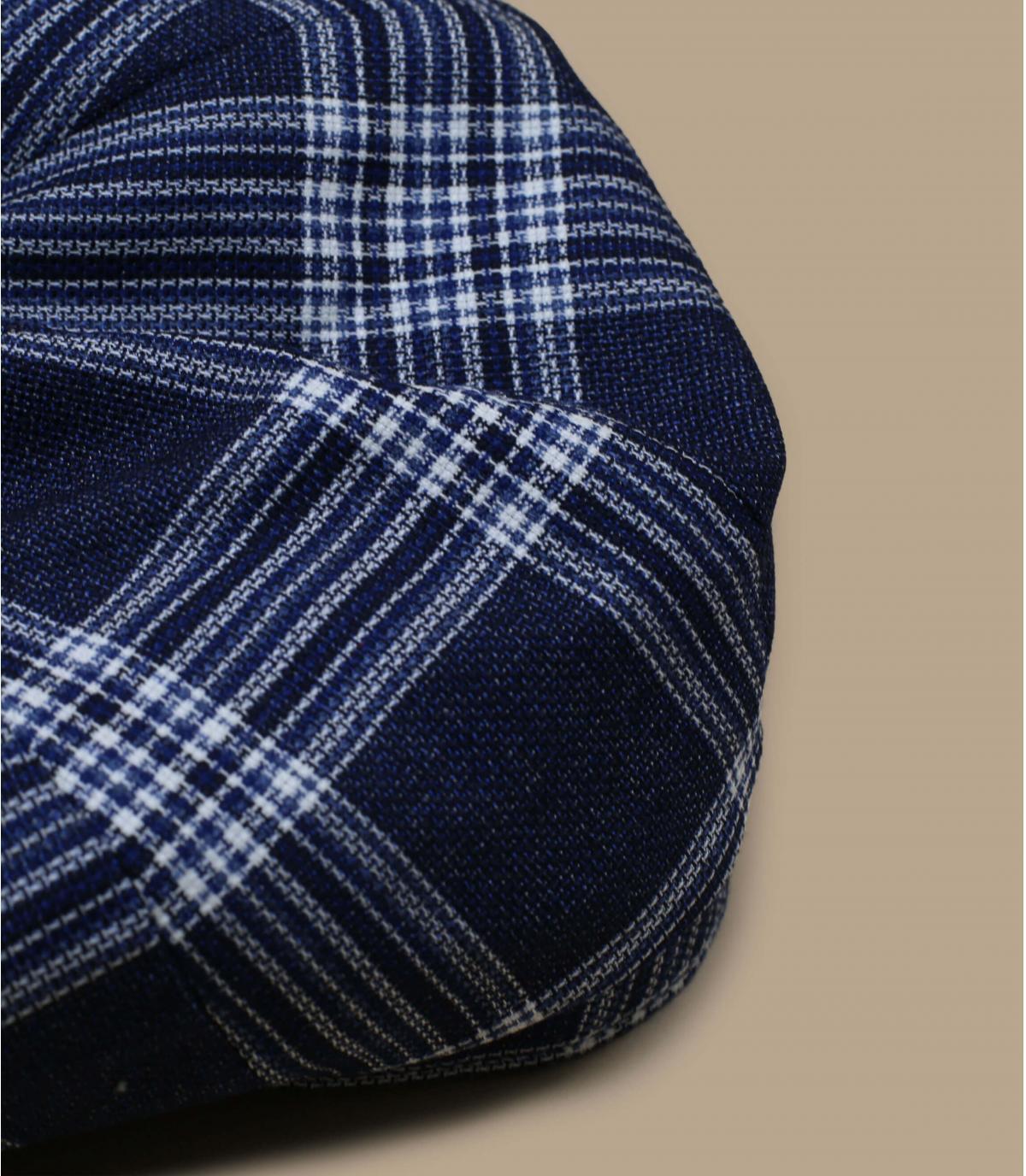 béret gavroche laine bleu carreaux