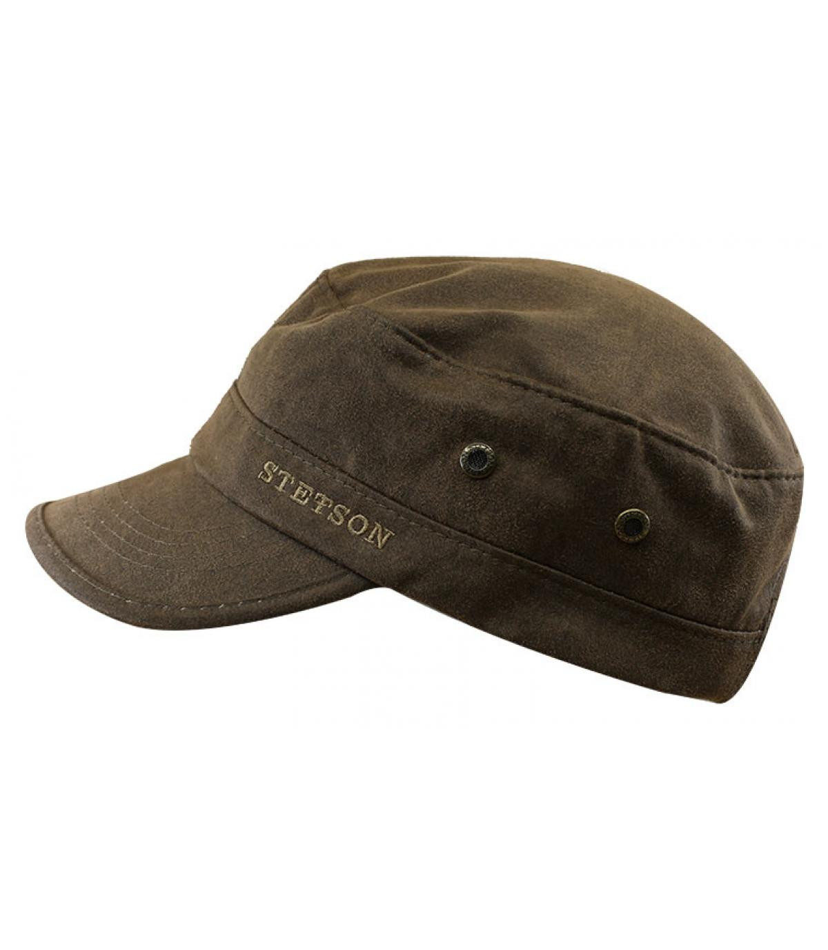 casquette army coton marron