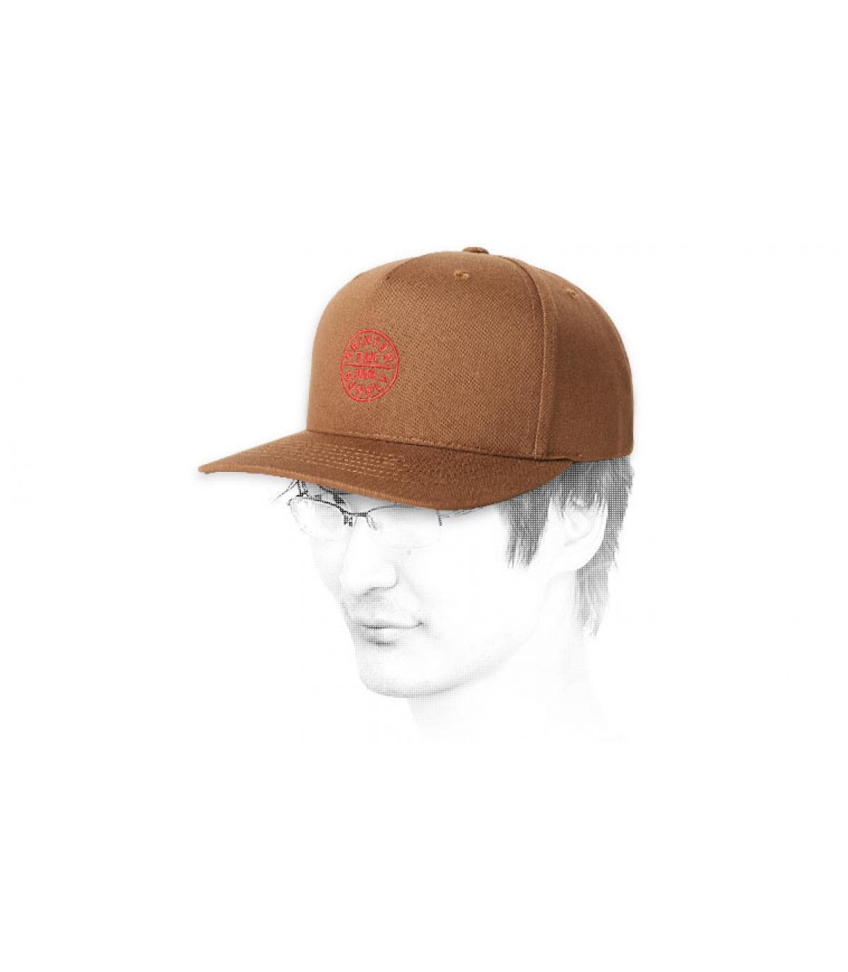 snapback Brixton marron