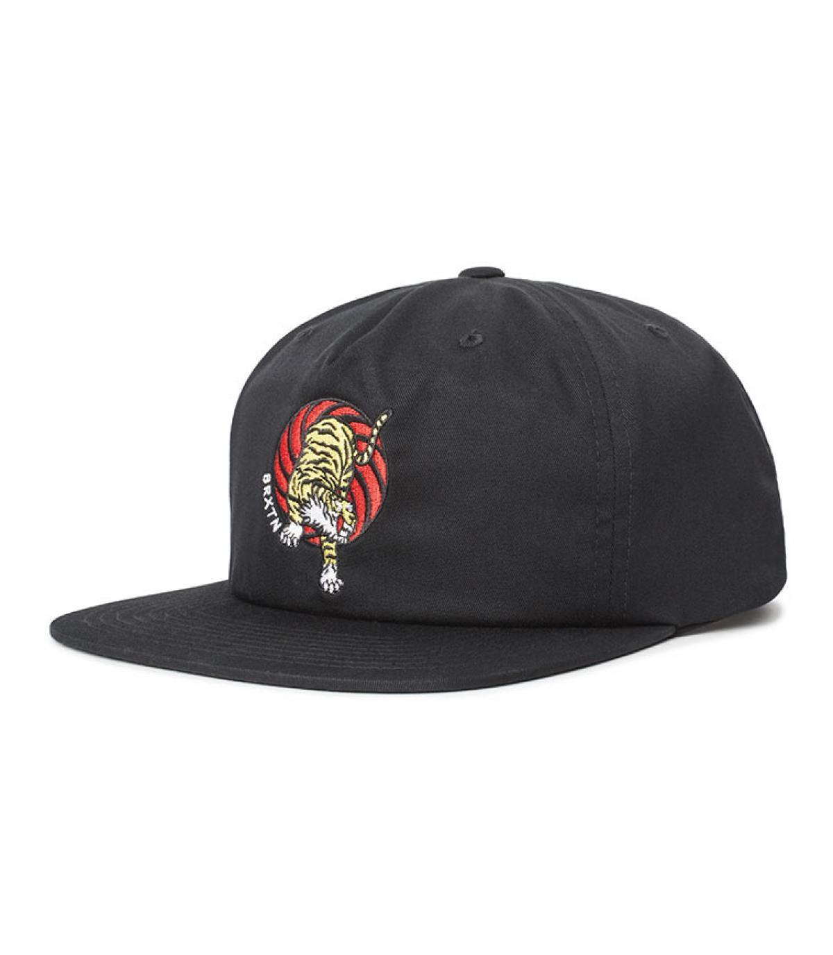 casquette Brixton noir tigre