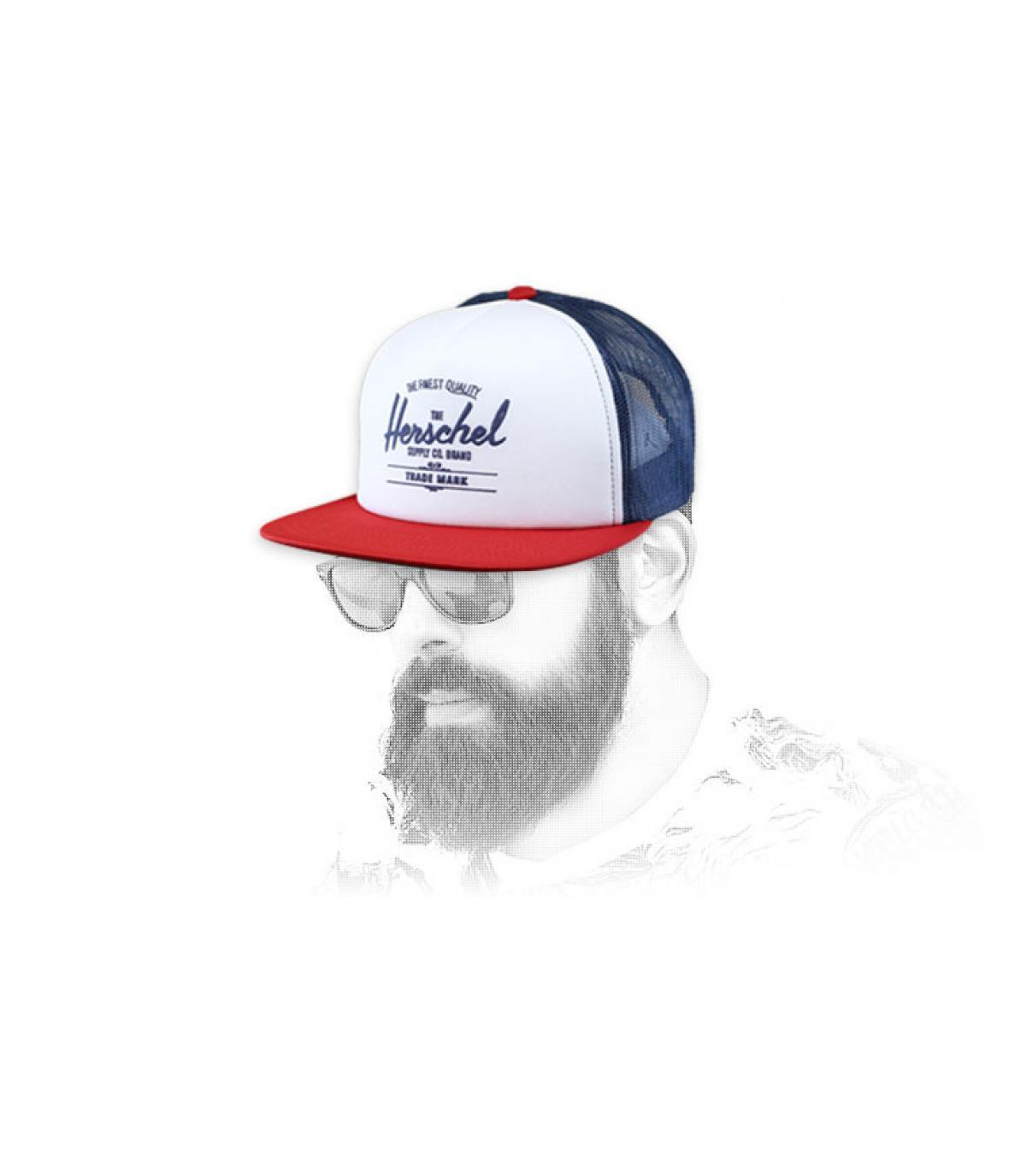 trucker Herschel bleu blanc rouge