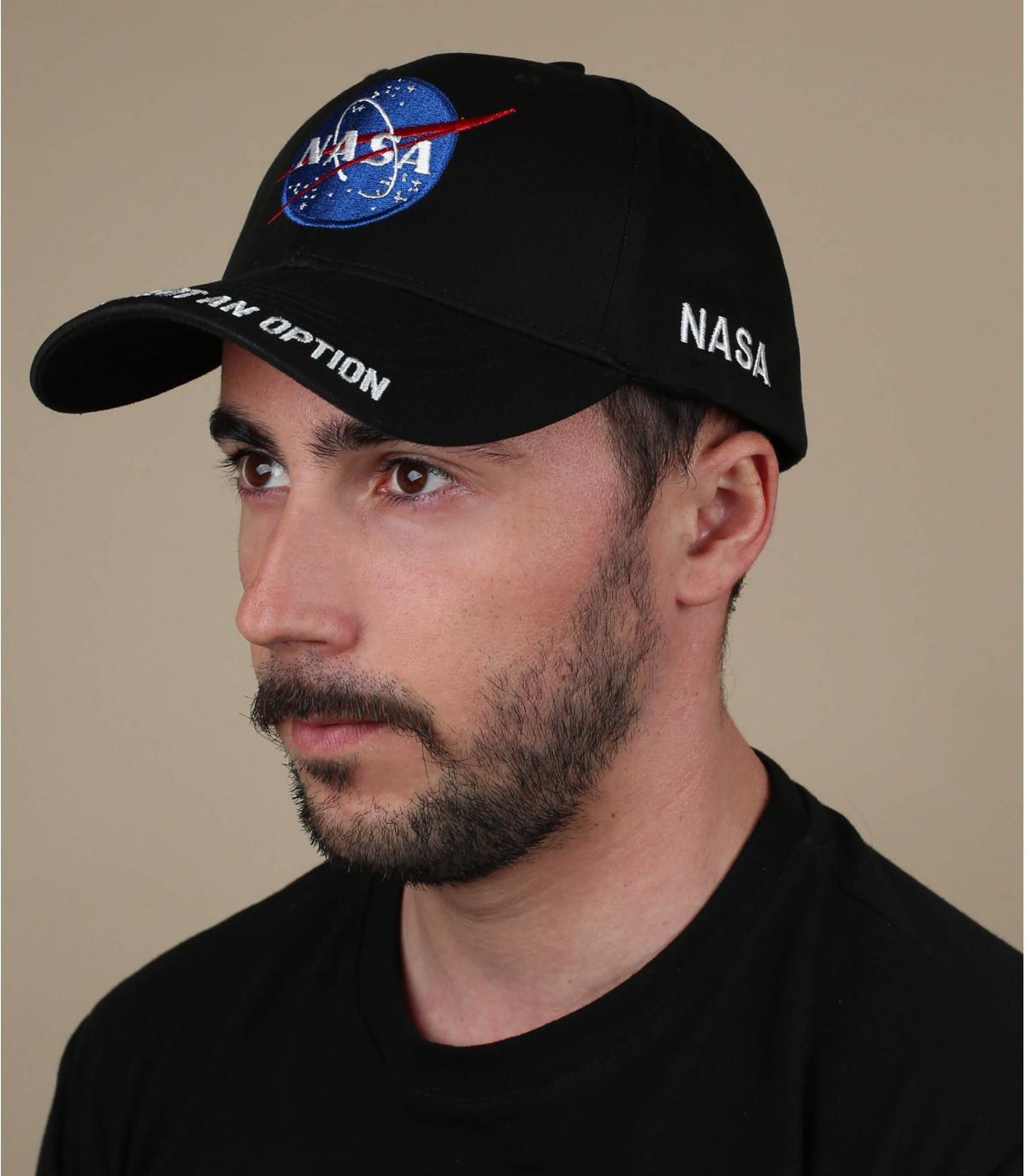 Casquette NASA noire