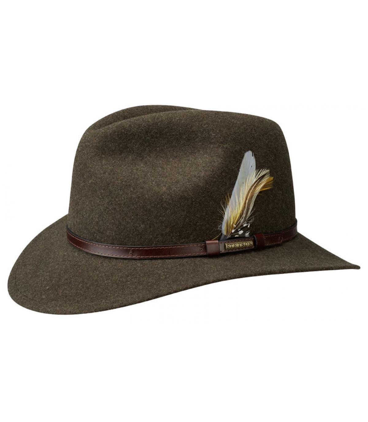 Chapeau feutre marron Stetson