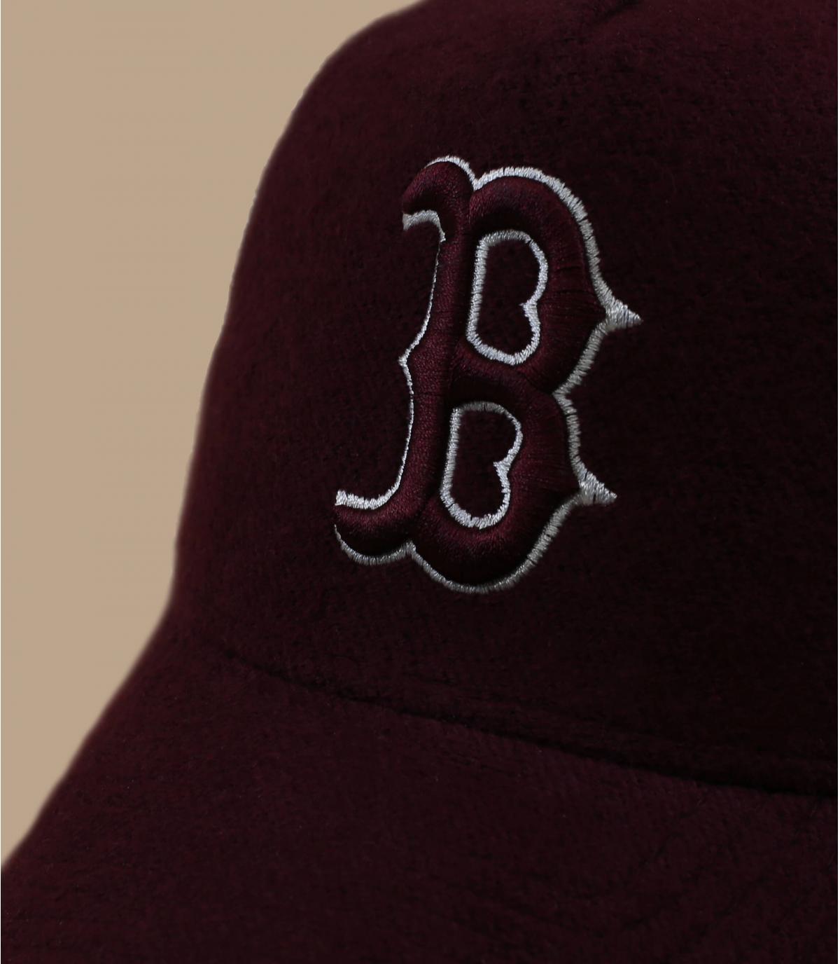 Détails Trucker MLB Boston burgundy - image 2