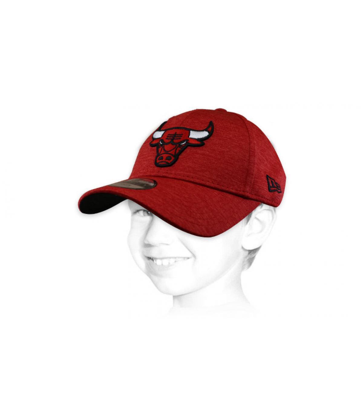 casquette enfant Bulls rouge
