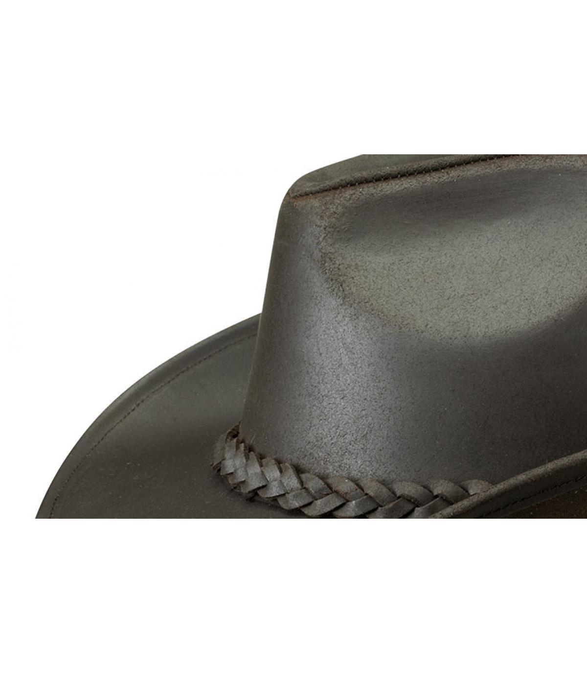 b53b8577d6d78 Chapeau Stetson cowboy - Chapeau Mendota buffalo leather par Stetson.