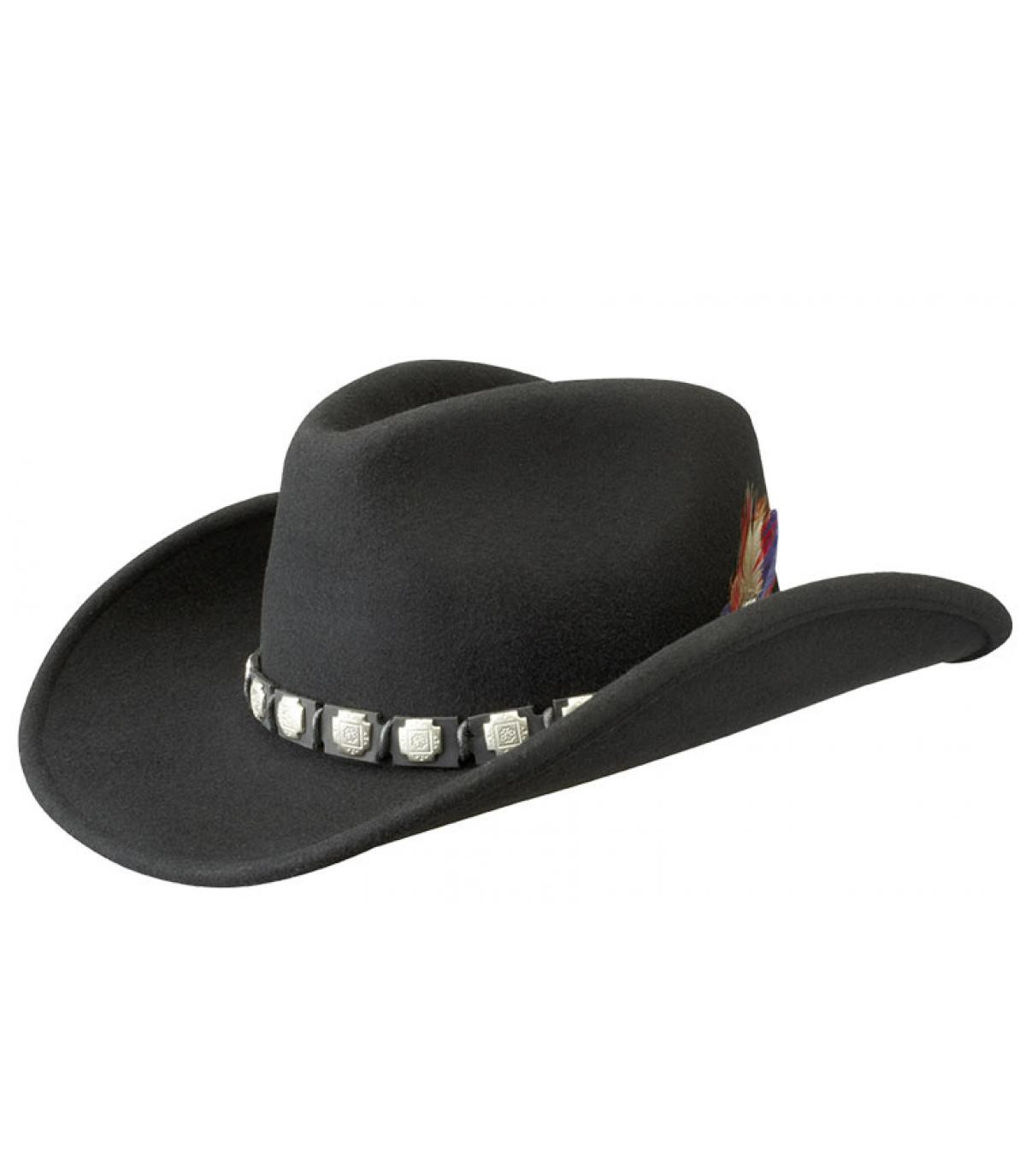 Chapeau cowboy feutre laine