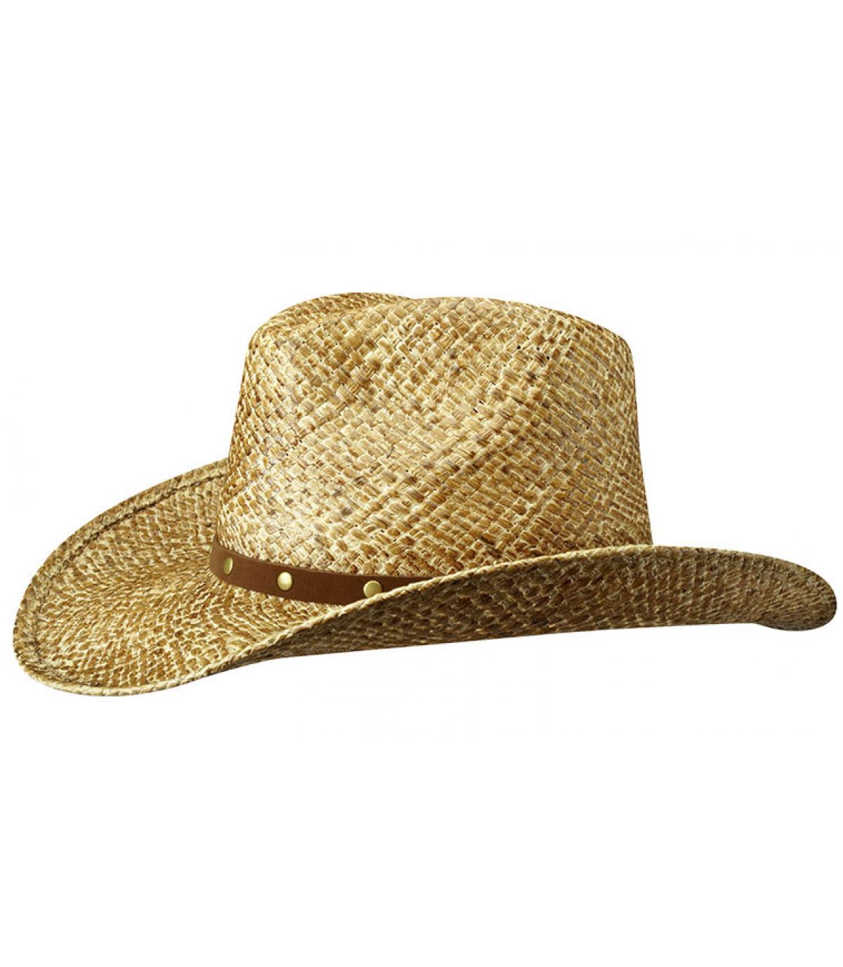 Chapeau cowboy paille