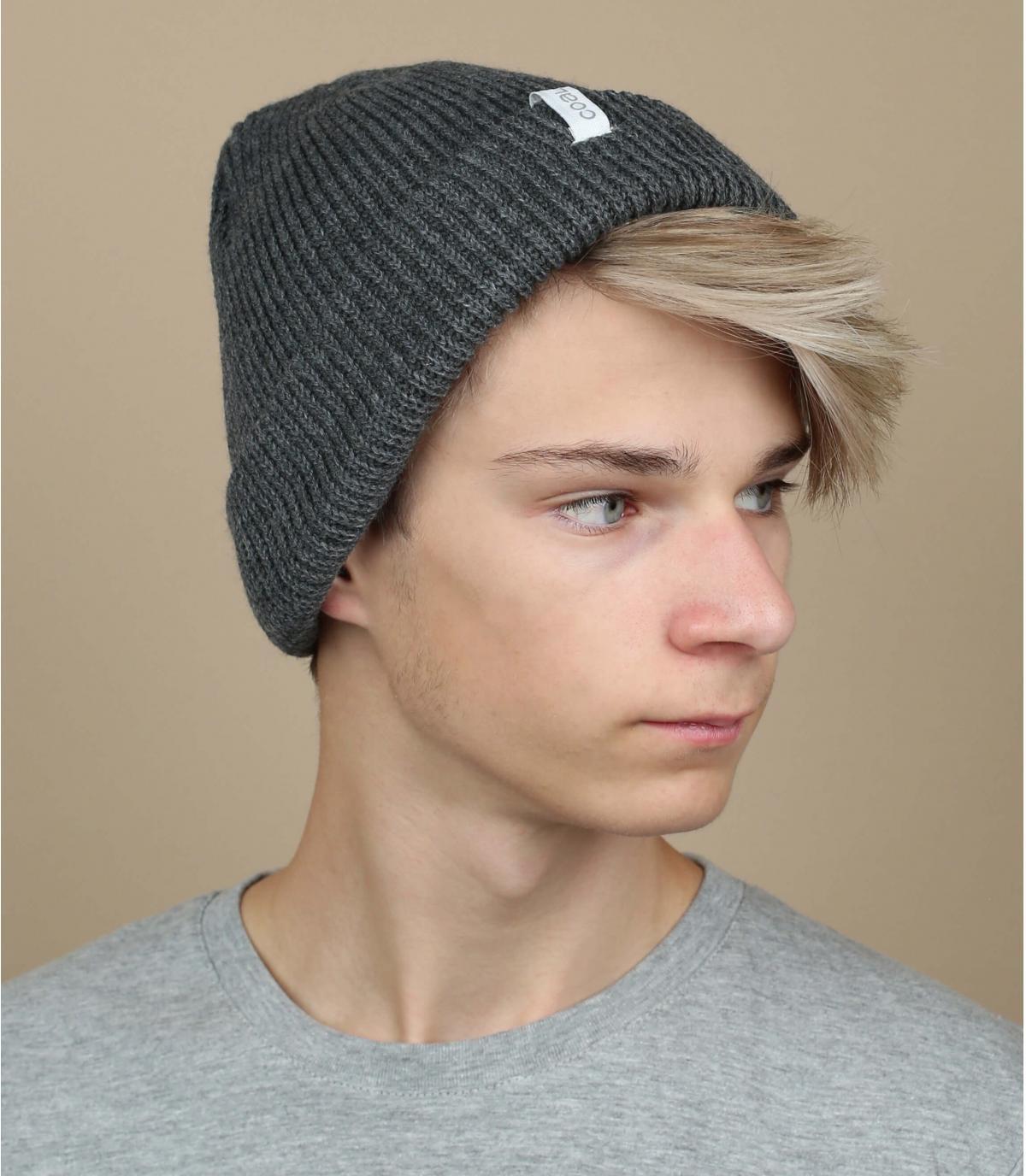 Bonnet uni gris