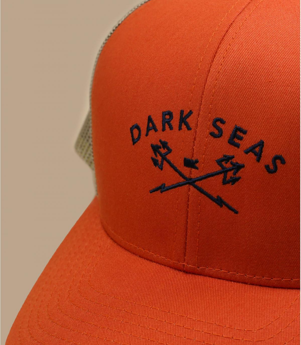 trucker Dark Seas orange vert