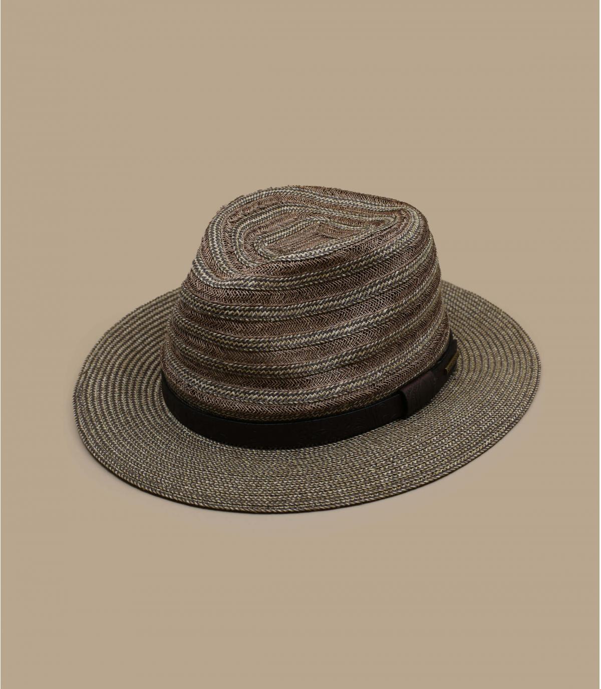 chapeau paille galon cuir
