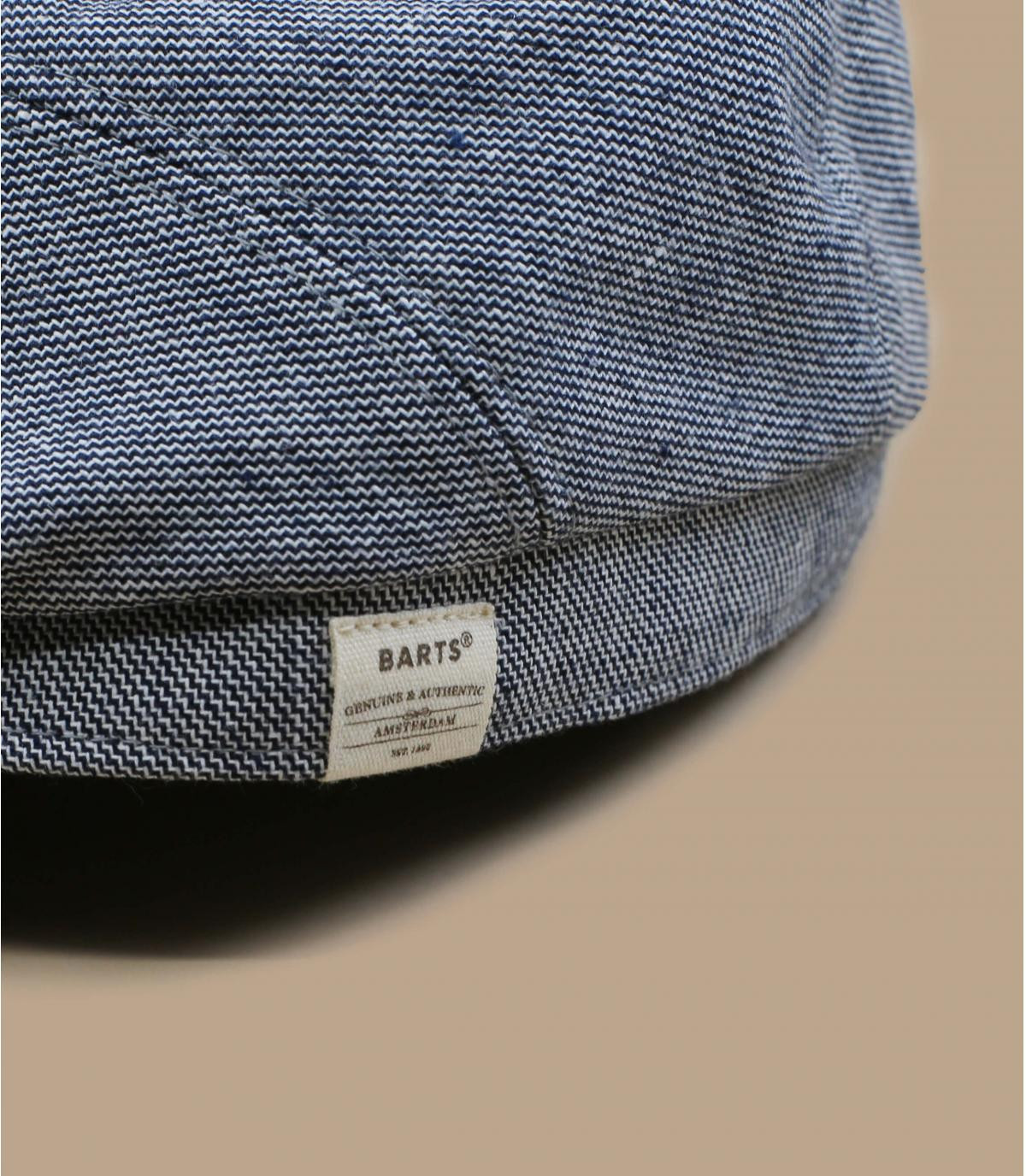 béret bleu coton lin