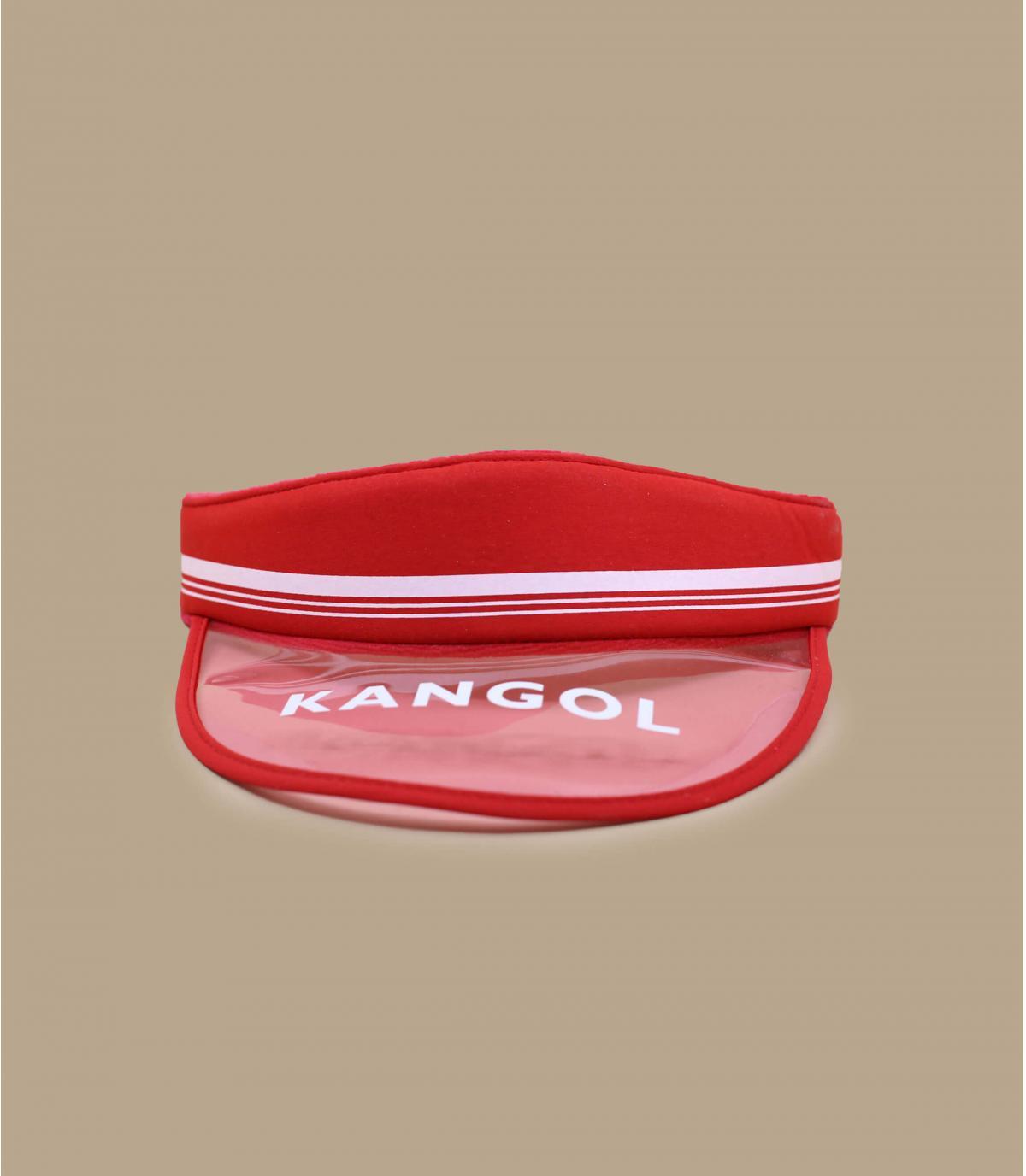 visière Kangol rouge