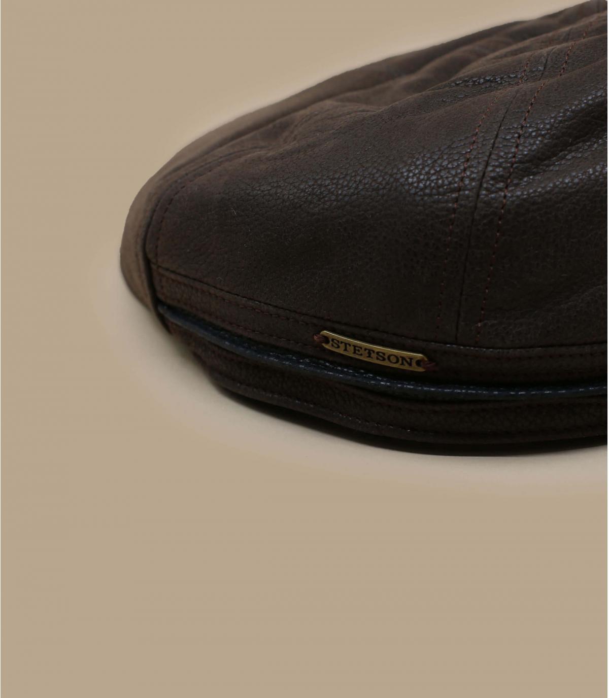 Casquette plate Stetson marron