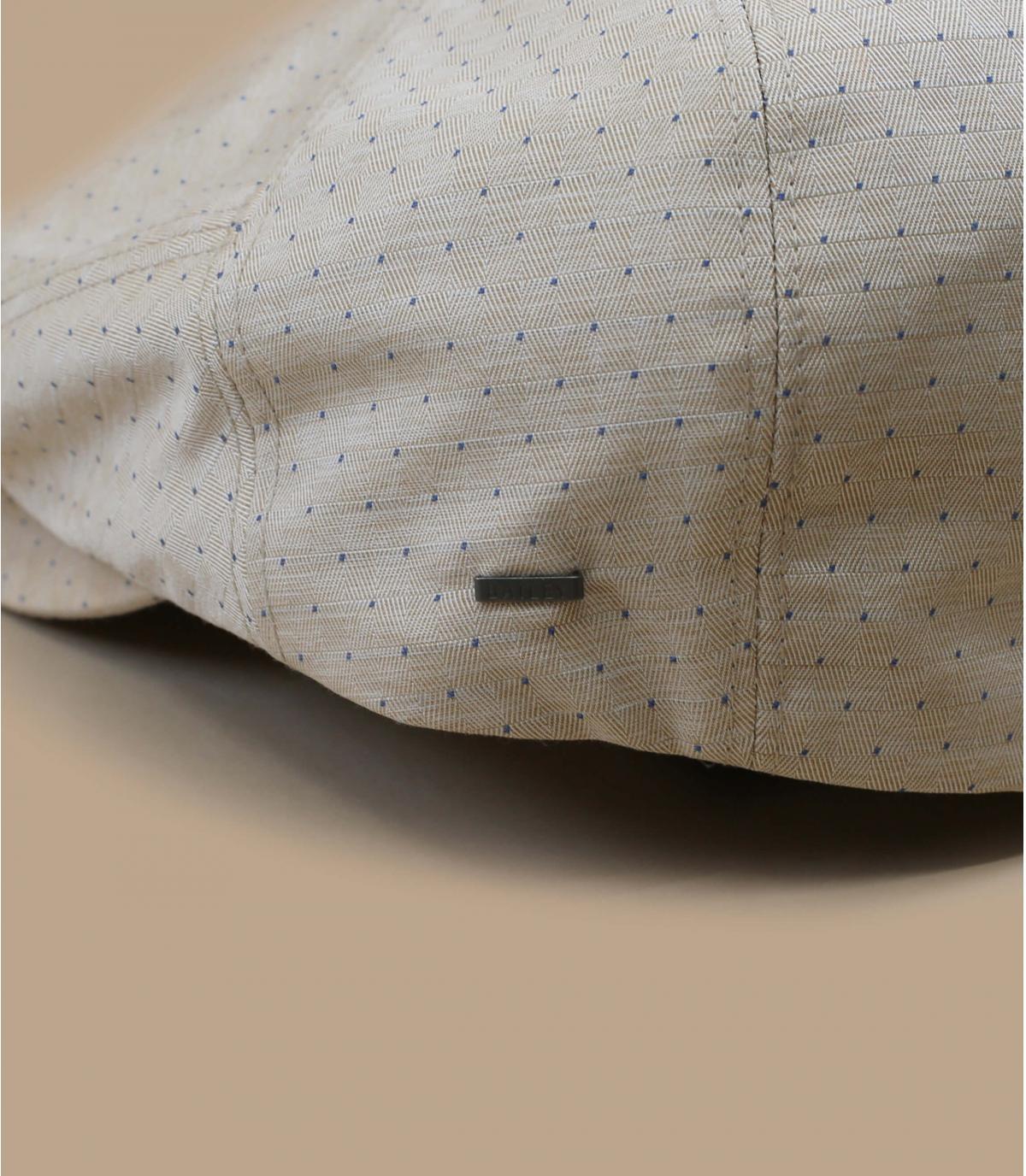 béret jacquard coton beige