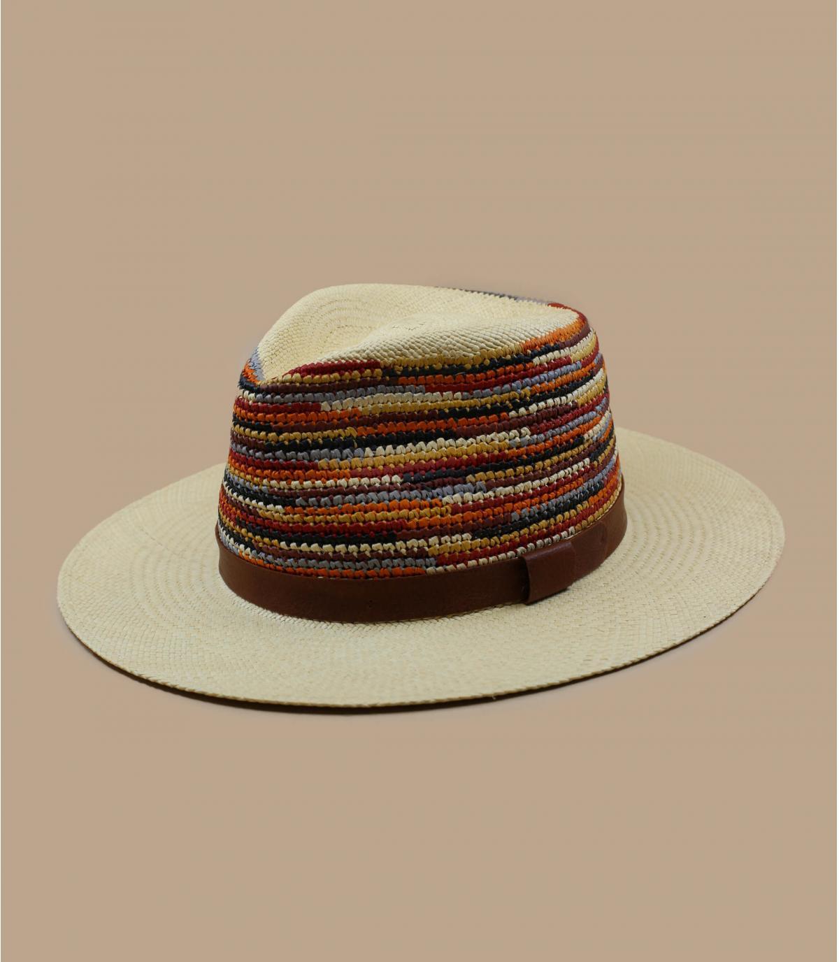 chapeau paille multicolore Bailey
