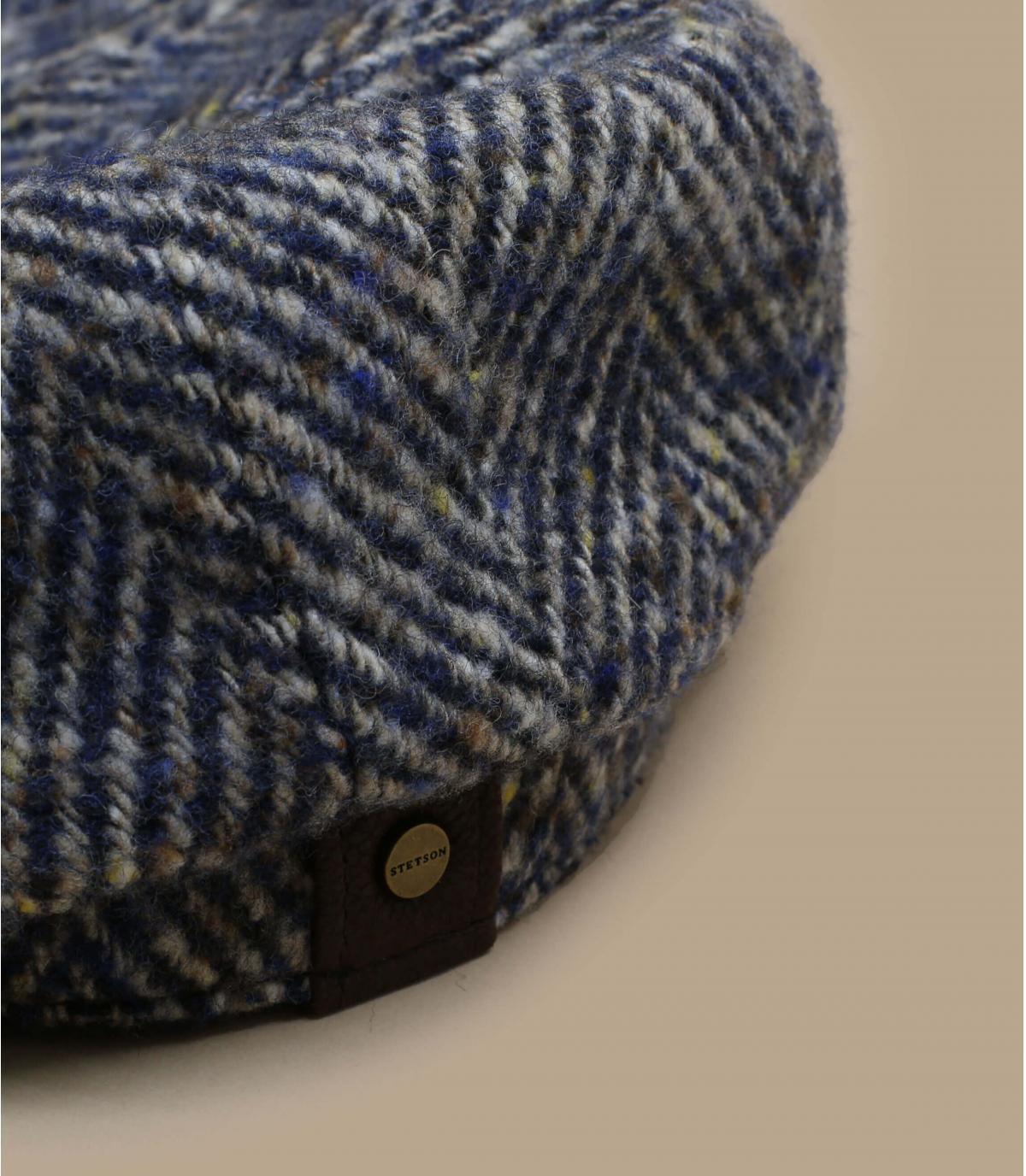 Détails Hatteras herringbone wool navy - image 2