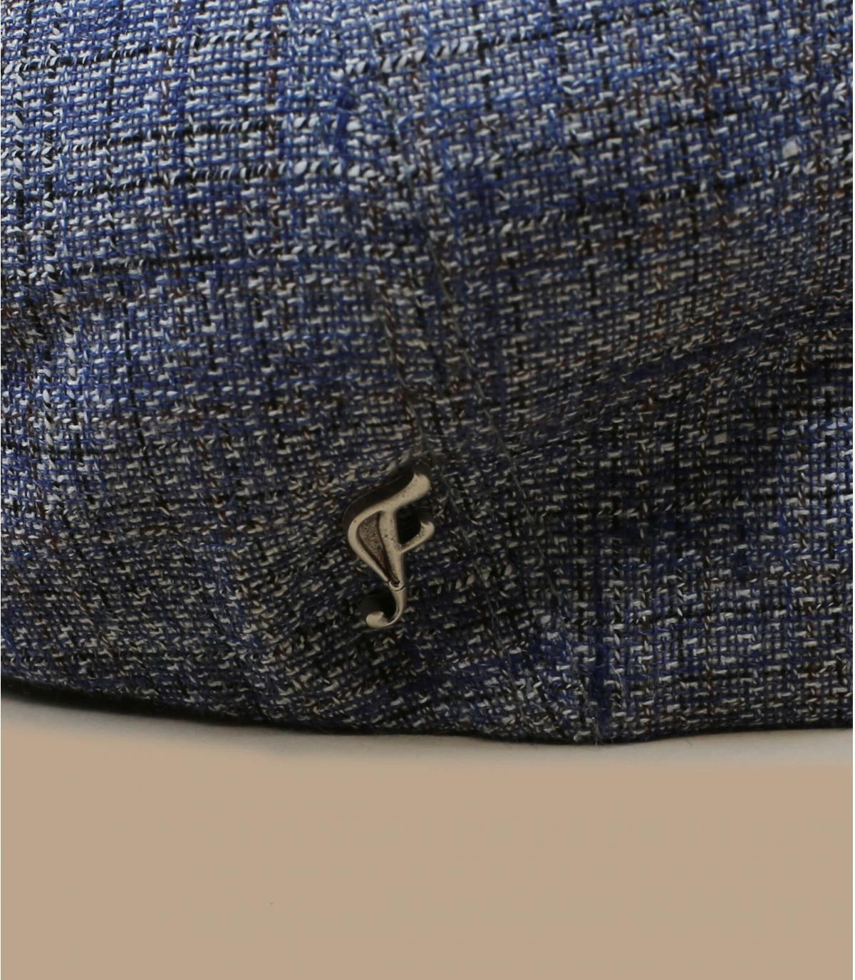 béret soie lin bleu
