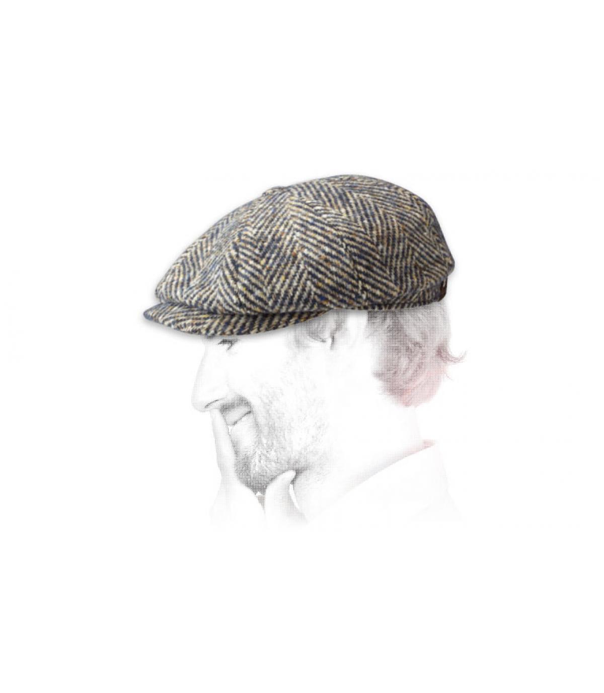 Détails Hatteras herringbone wool navy - image 3