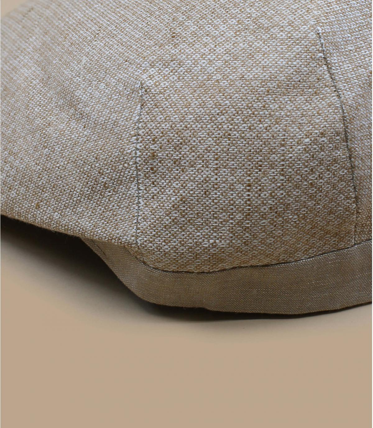 béret beige lin coton