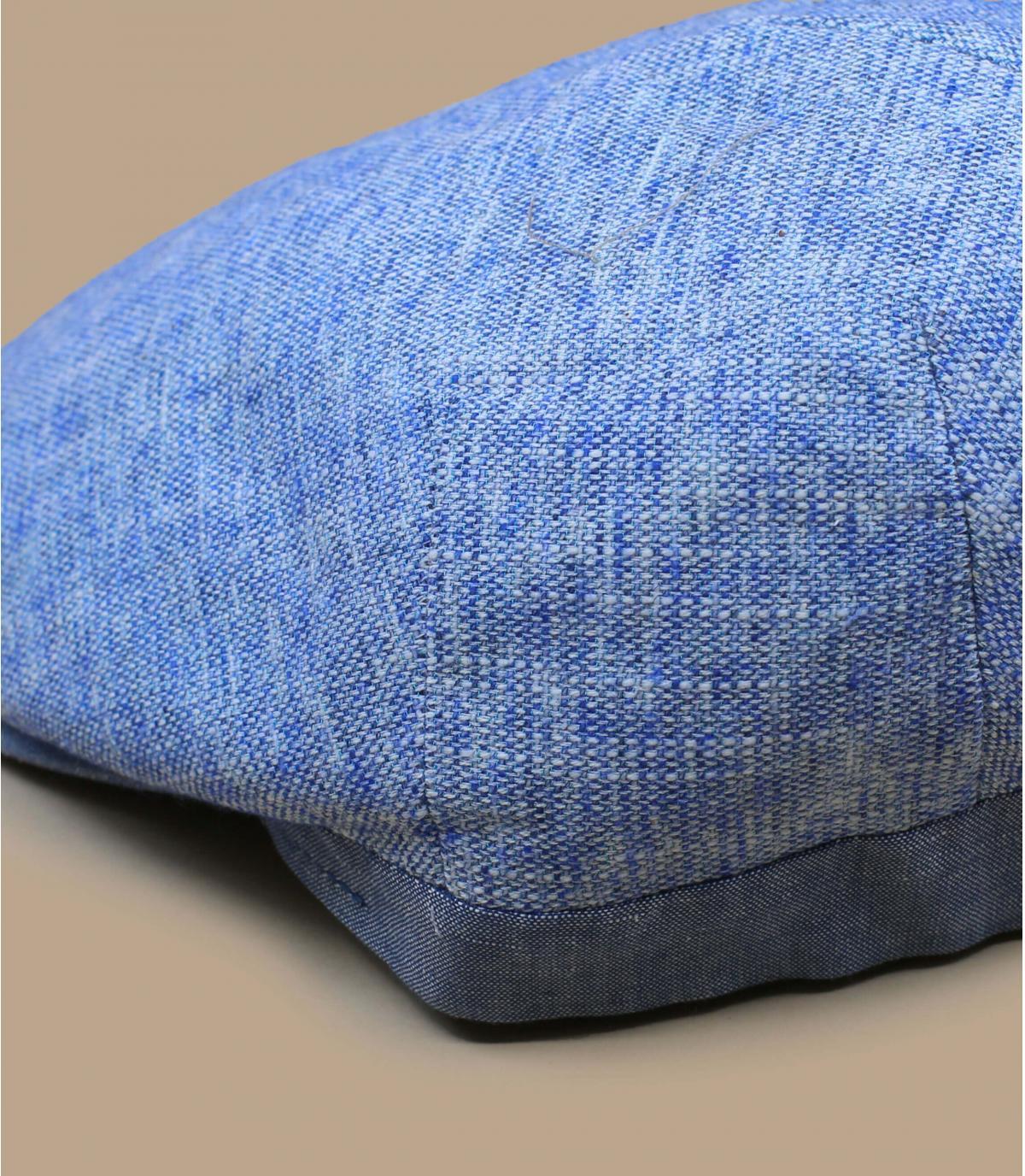 béret bleu lin coton
