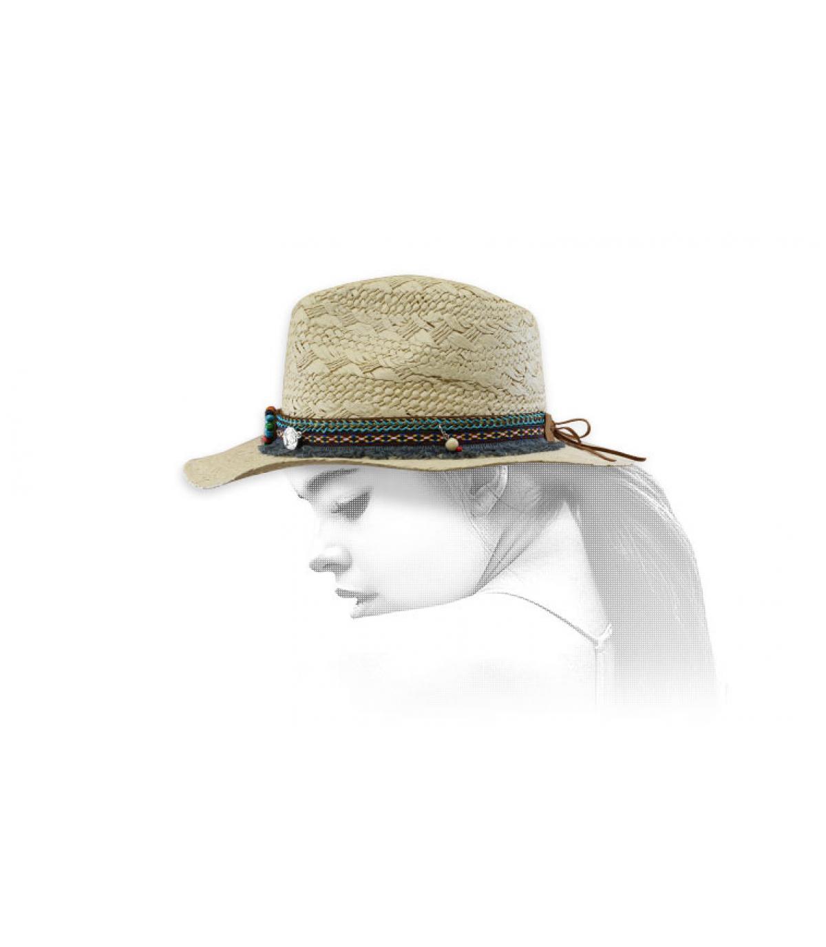 chapeau cowboy femme paille