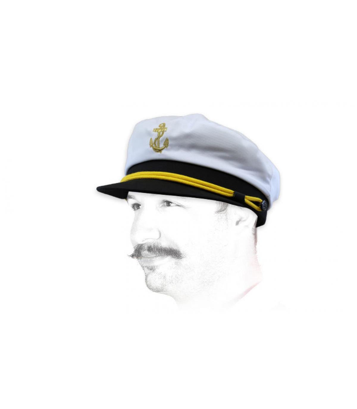 casquette marin blanc