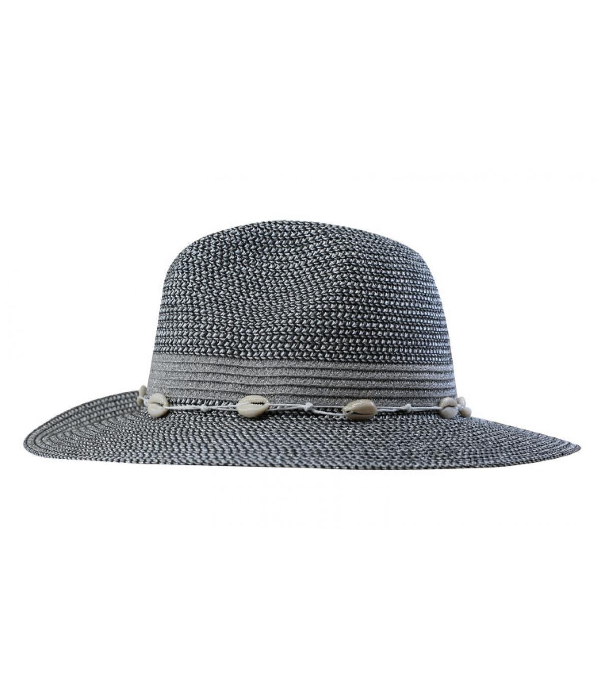 chapeau paille argentée