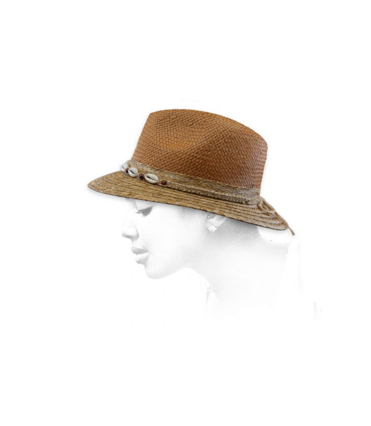 chapeau paille bicolore