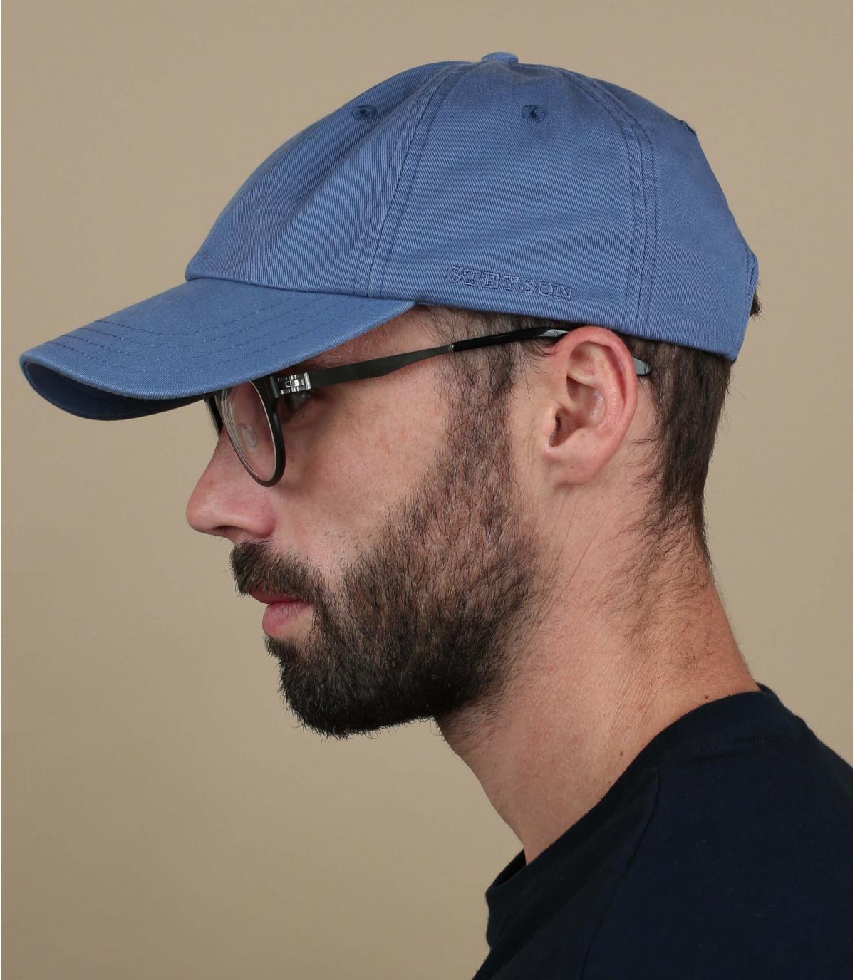 Casquette baseball Stetson bleu
