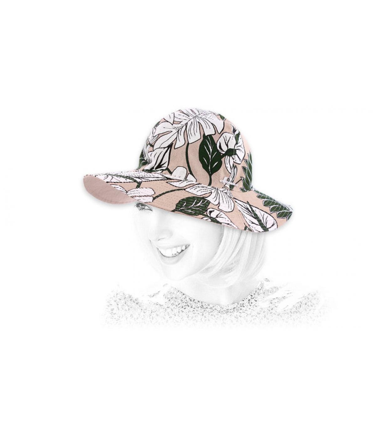 chapeau coton imprimé fleur