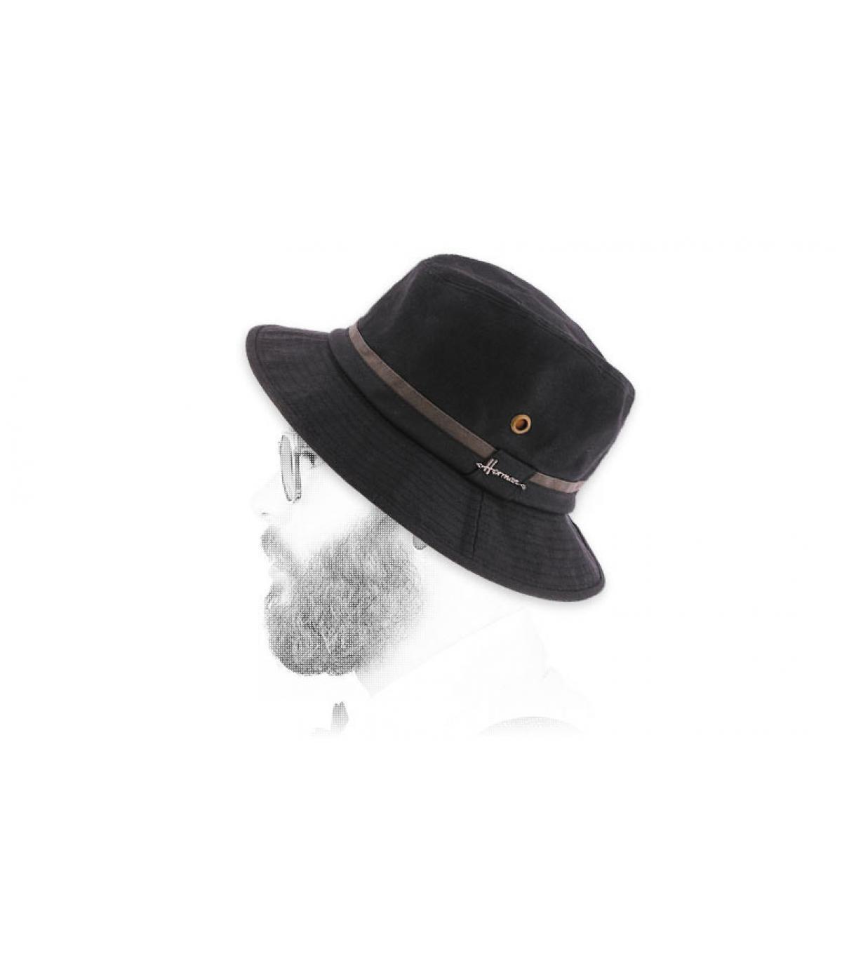 bob noir coton enduit