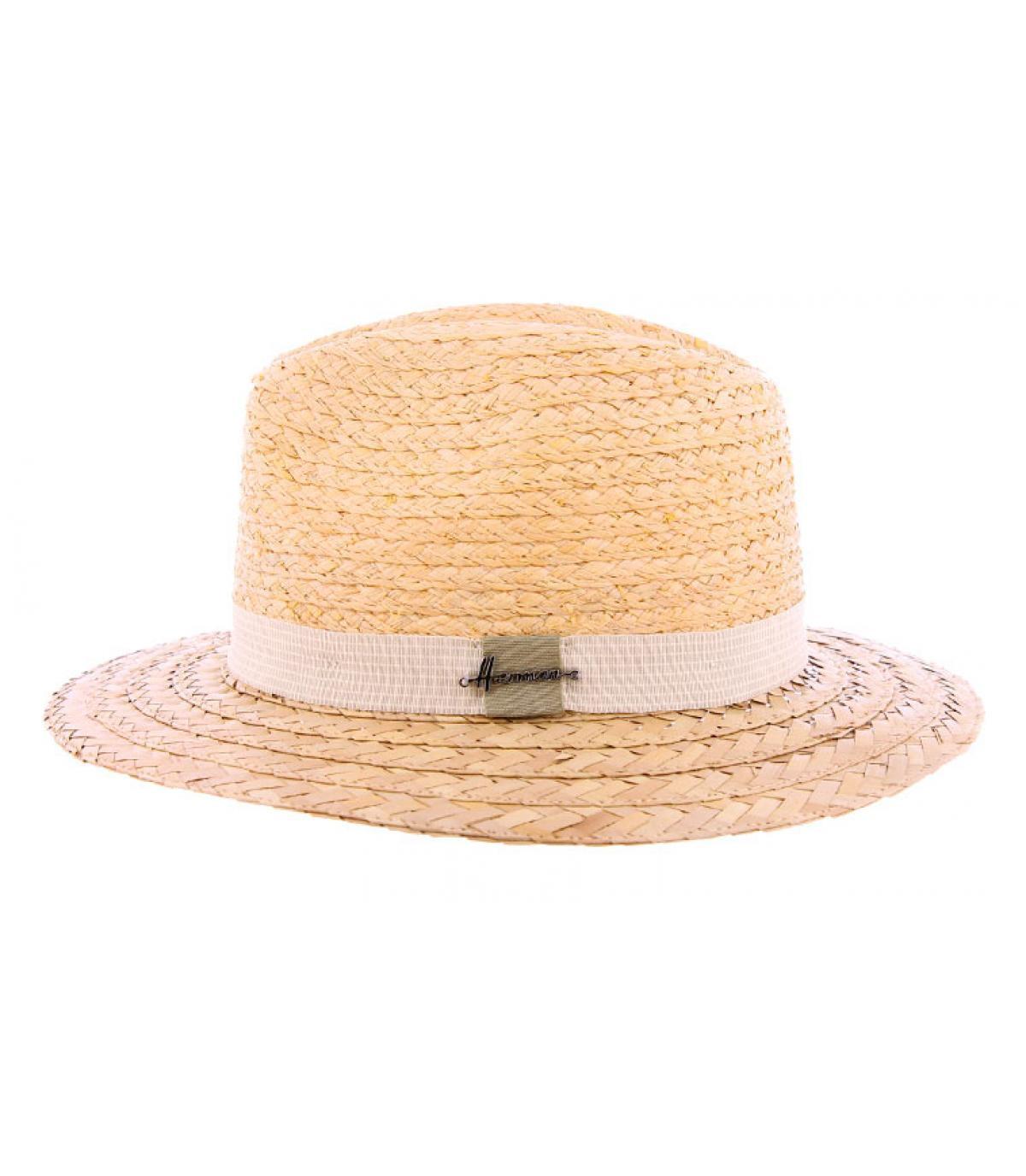 chapeau paille bicolore femme