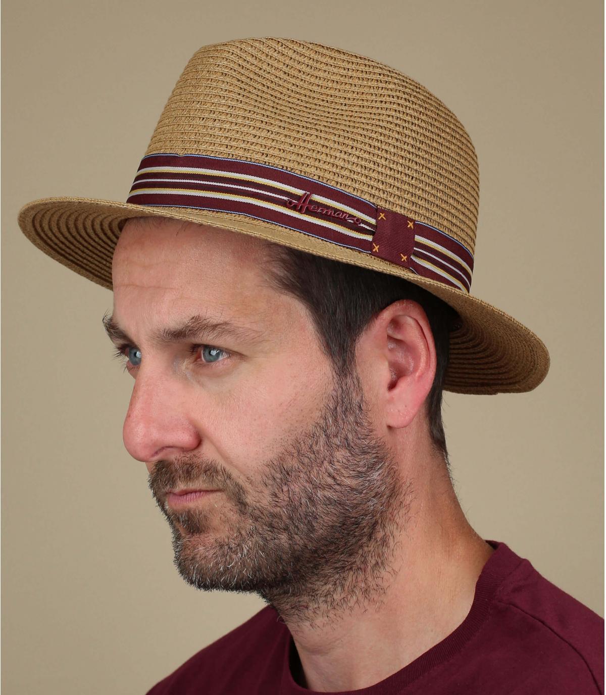 chapeau paille brun