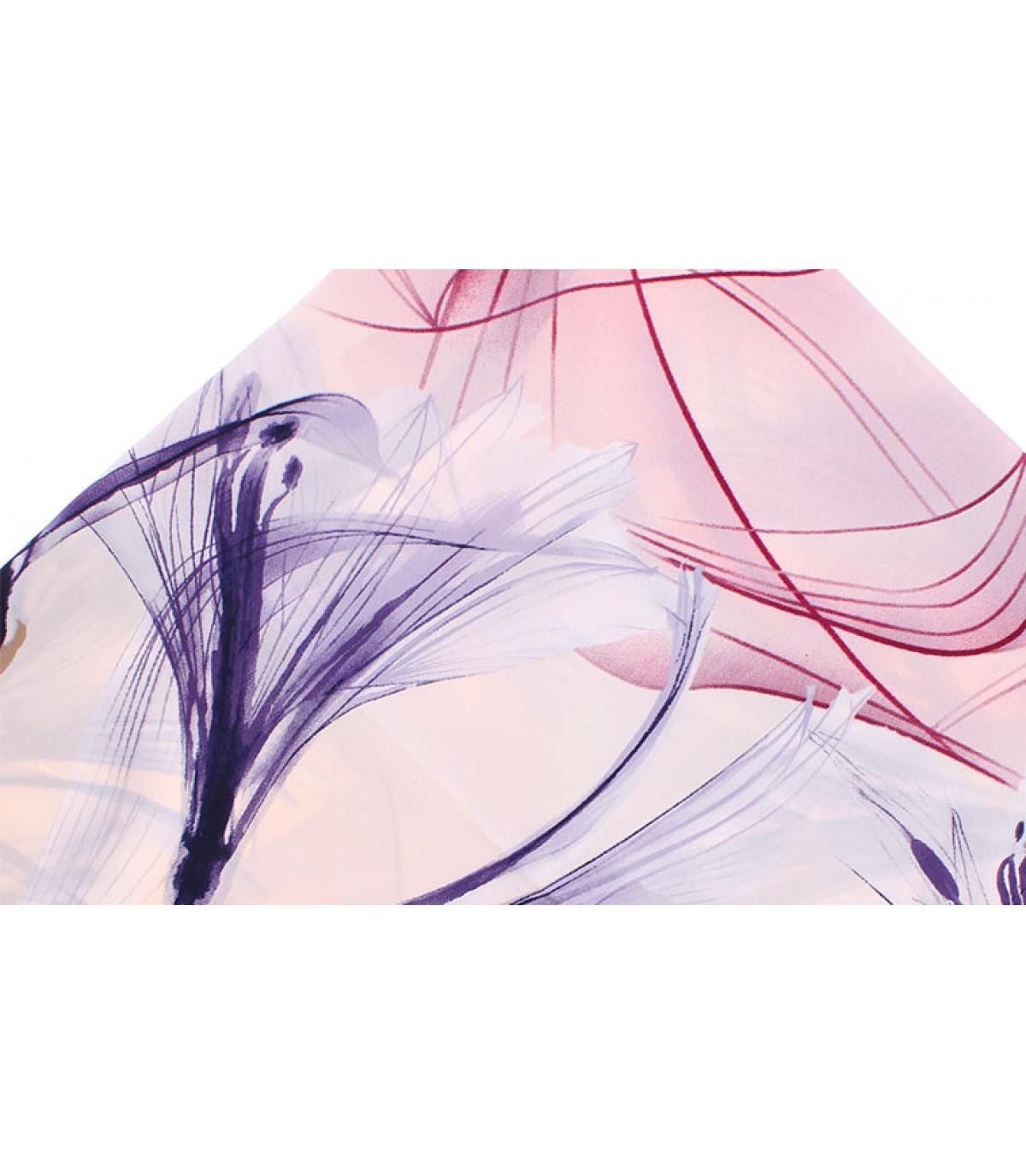 foulard carré imprimé rose