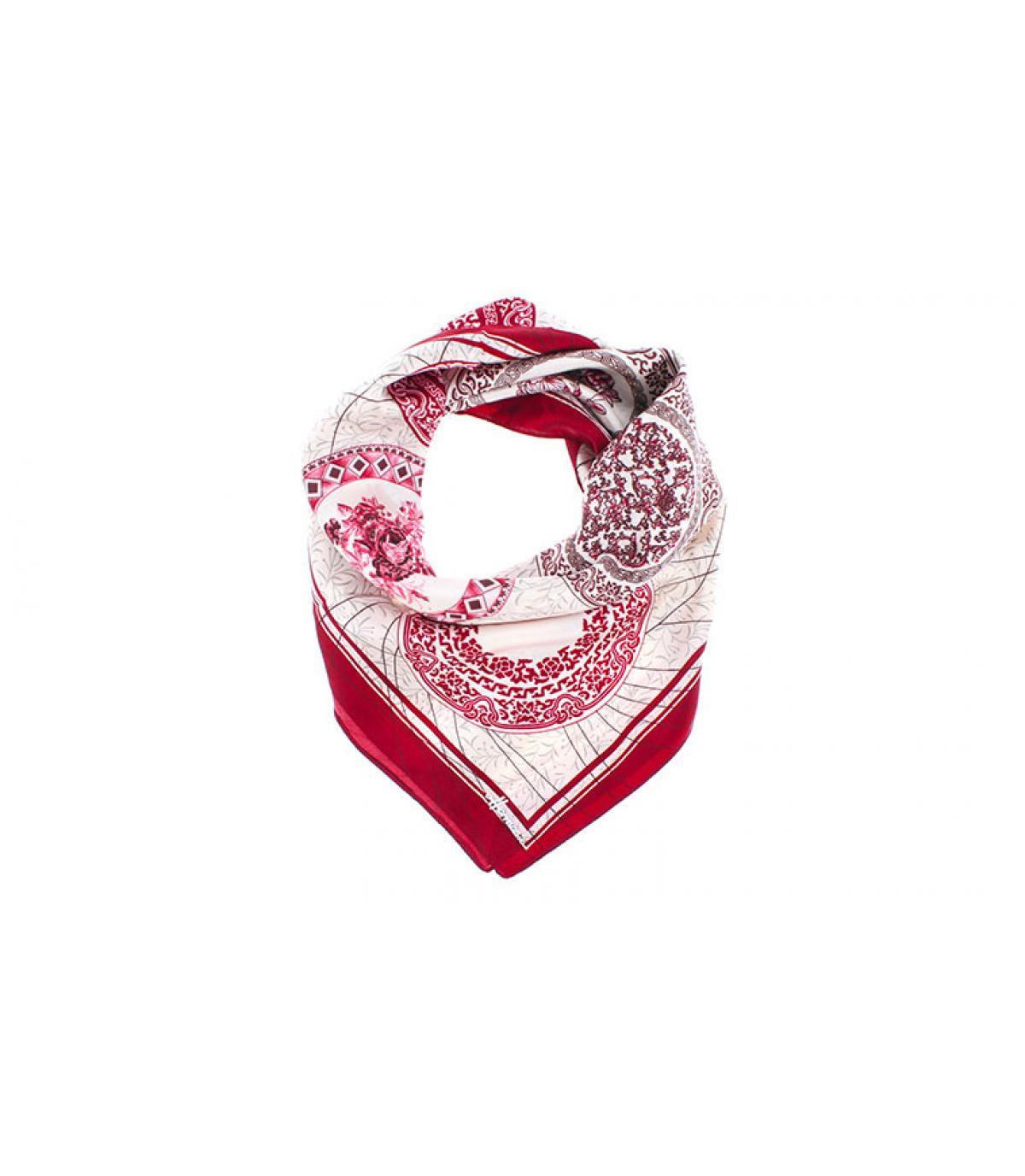 foulard carré bordeaux