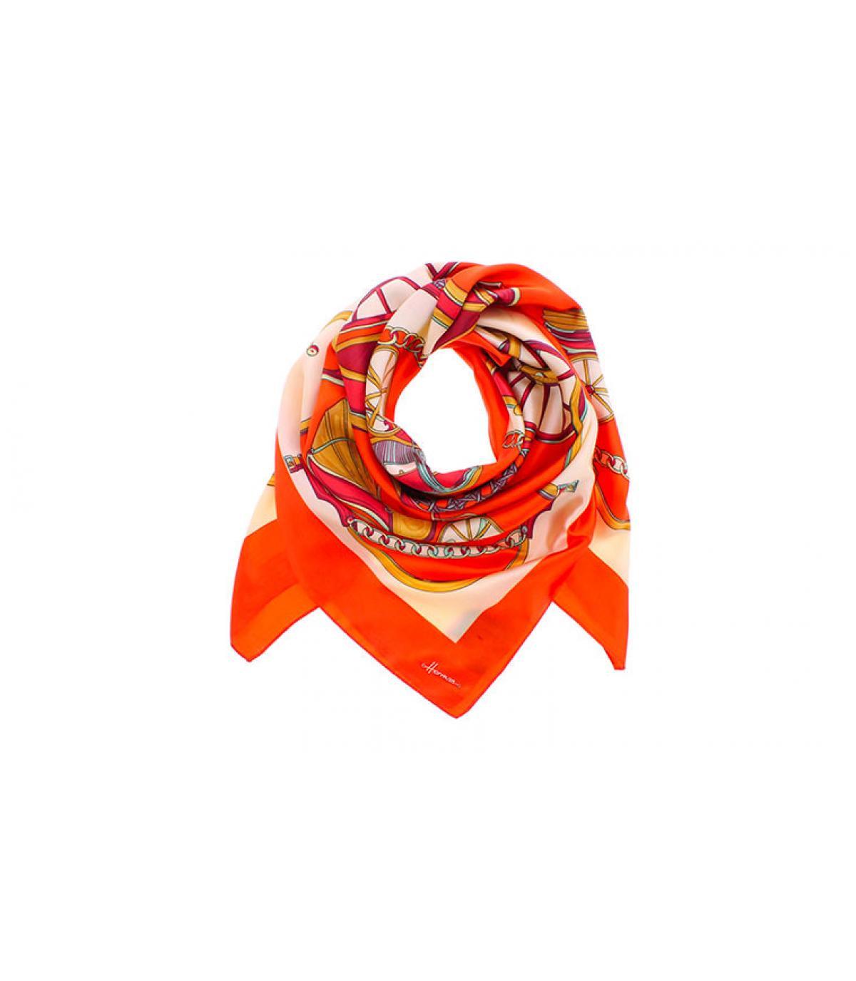 foulard carré orange