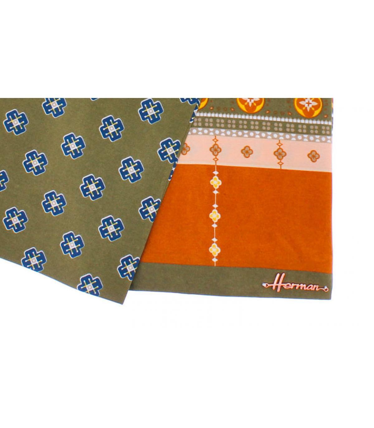 foulard orange vert