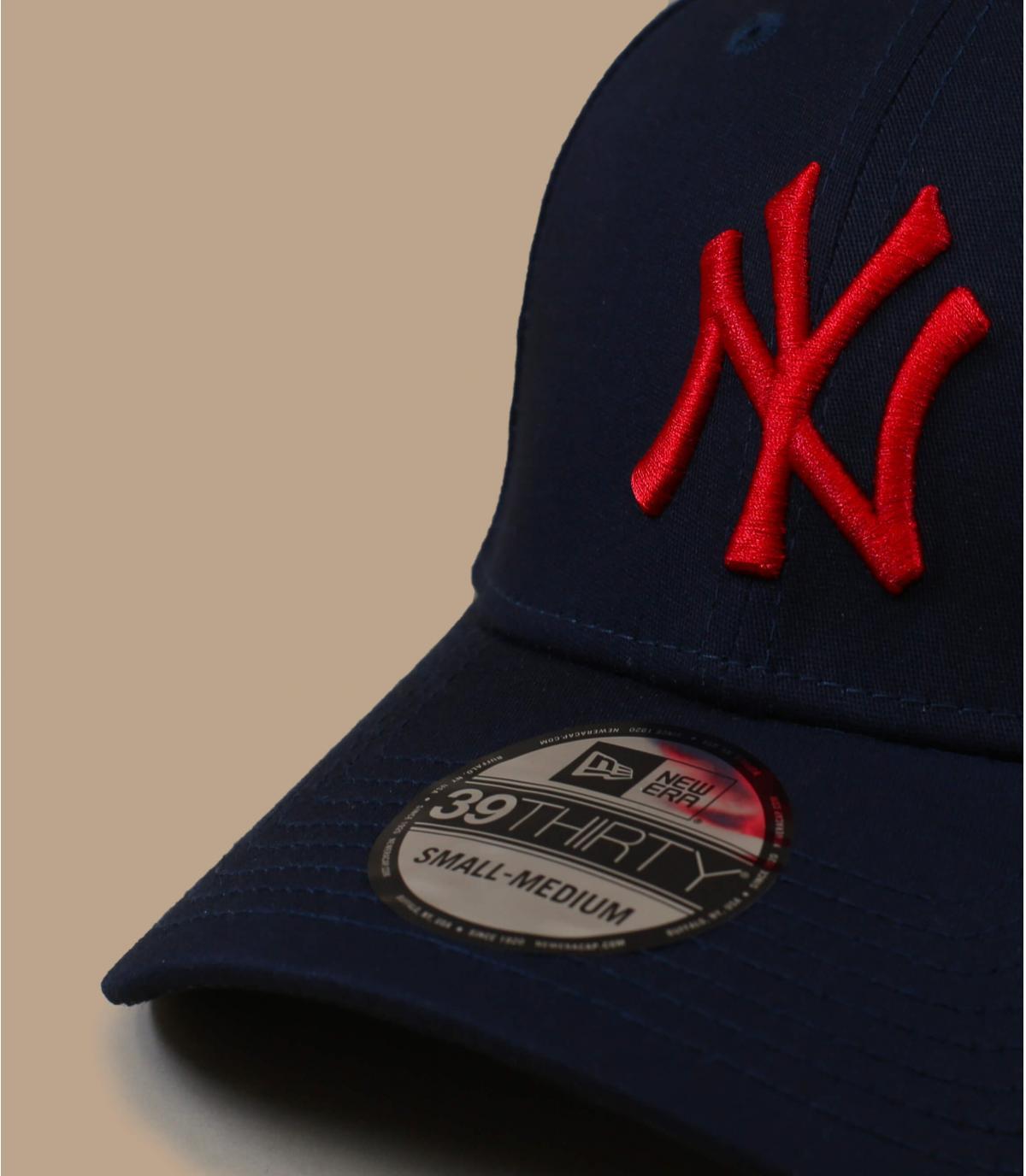 casquette NY bleu rouge stretch