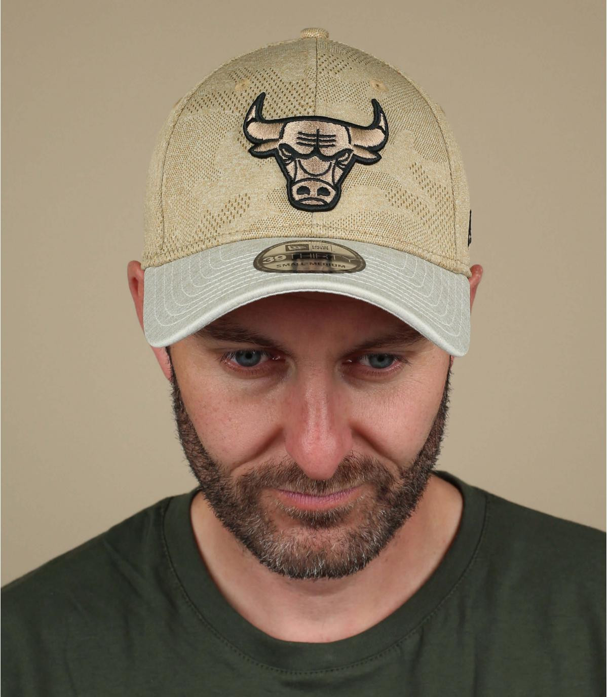 casquette Bulls beige