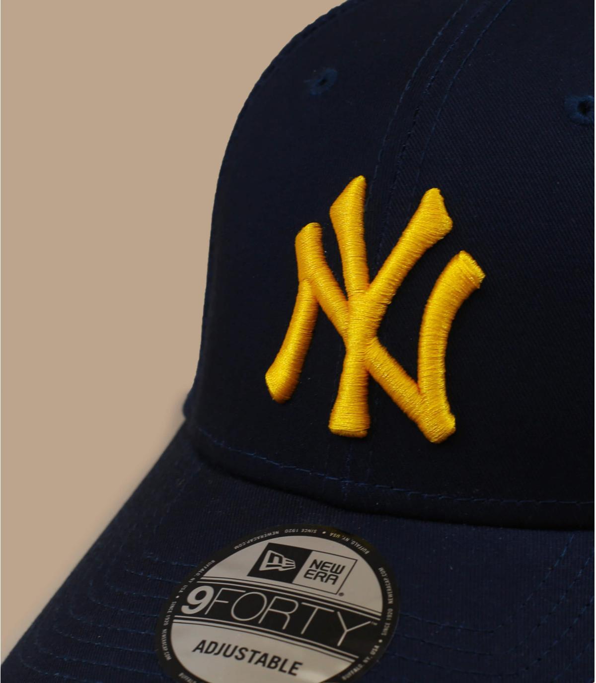 casquette NY bleu jaune