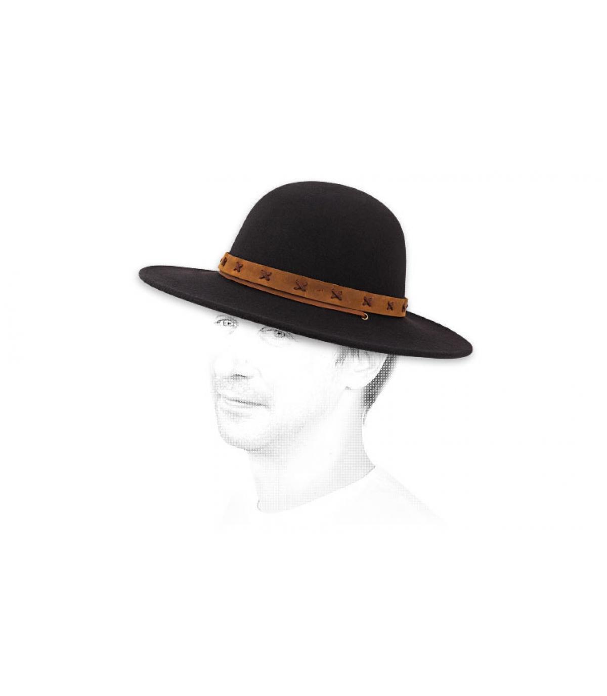 Détails Clay hat black tan - image 3