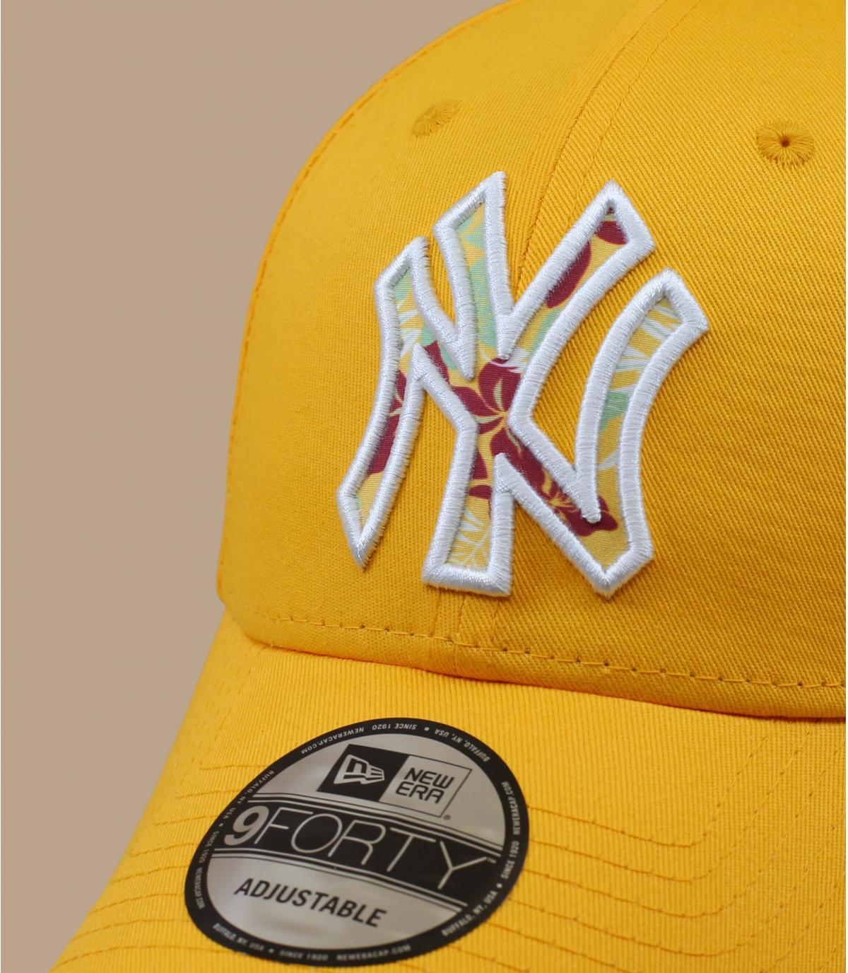 casquette NY jaune